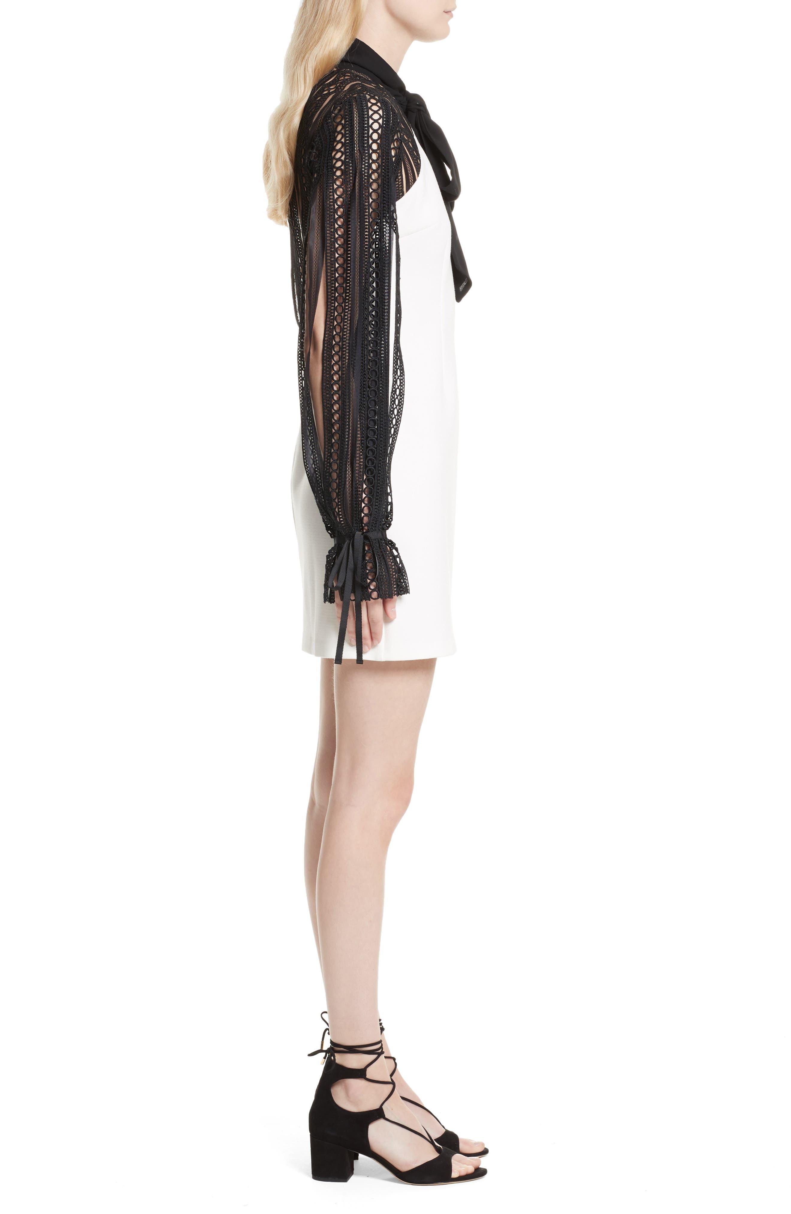 Alternate Image 3  - Self-Portrait Lace Sleeve Minidress