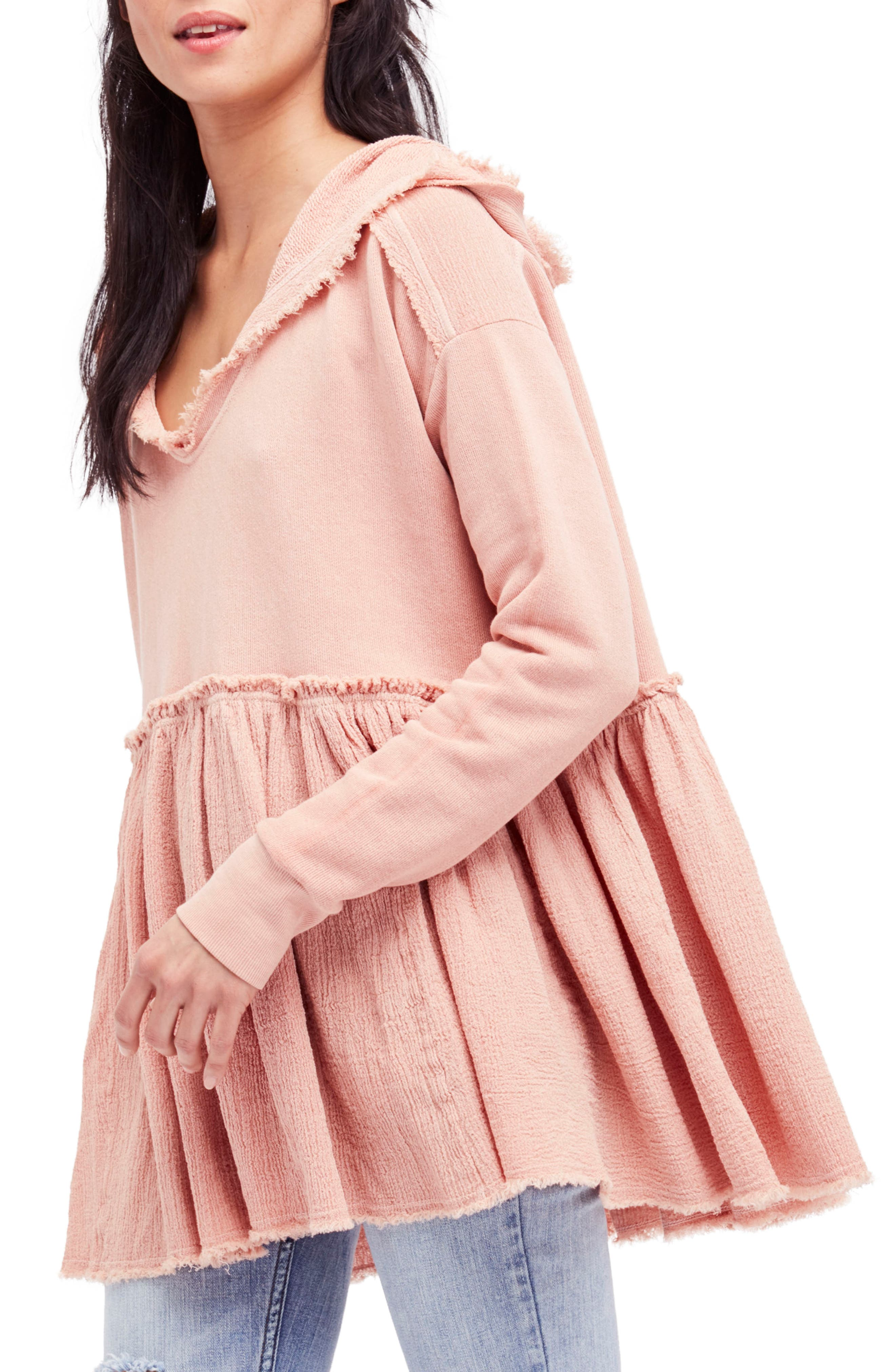 Summer Dreams Hooded Pullover,                         Main,                         color, Rose