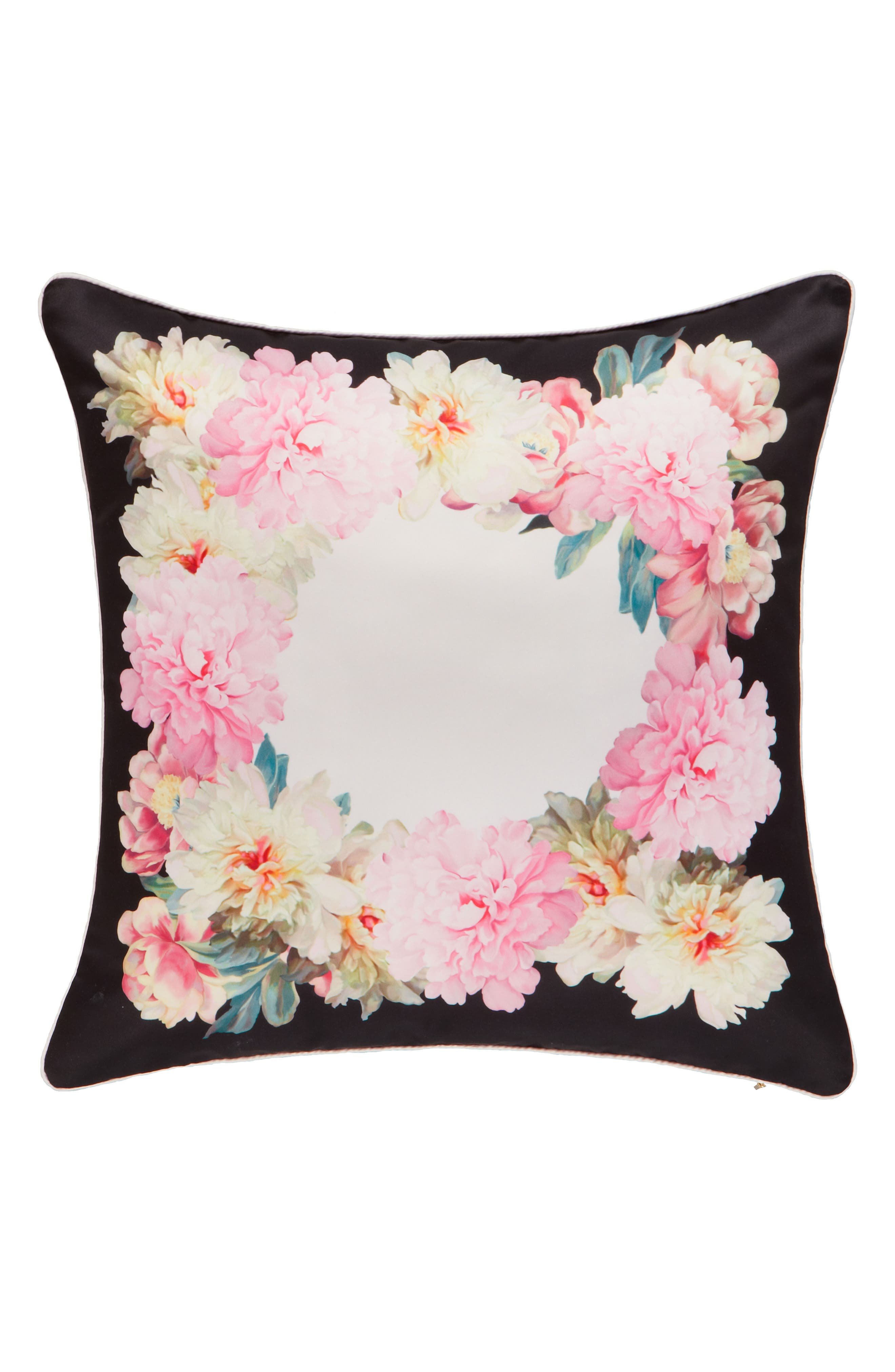 Painted Posie Accent Pillow,                         Main,                         color, Pink/ Multi