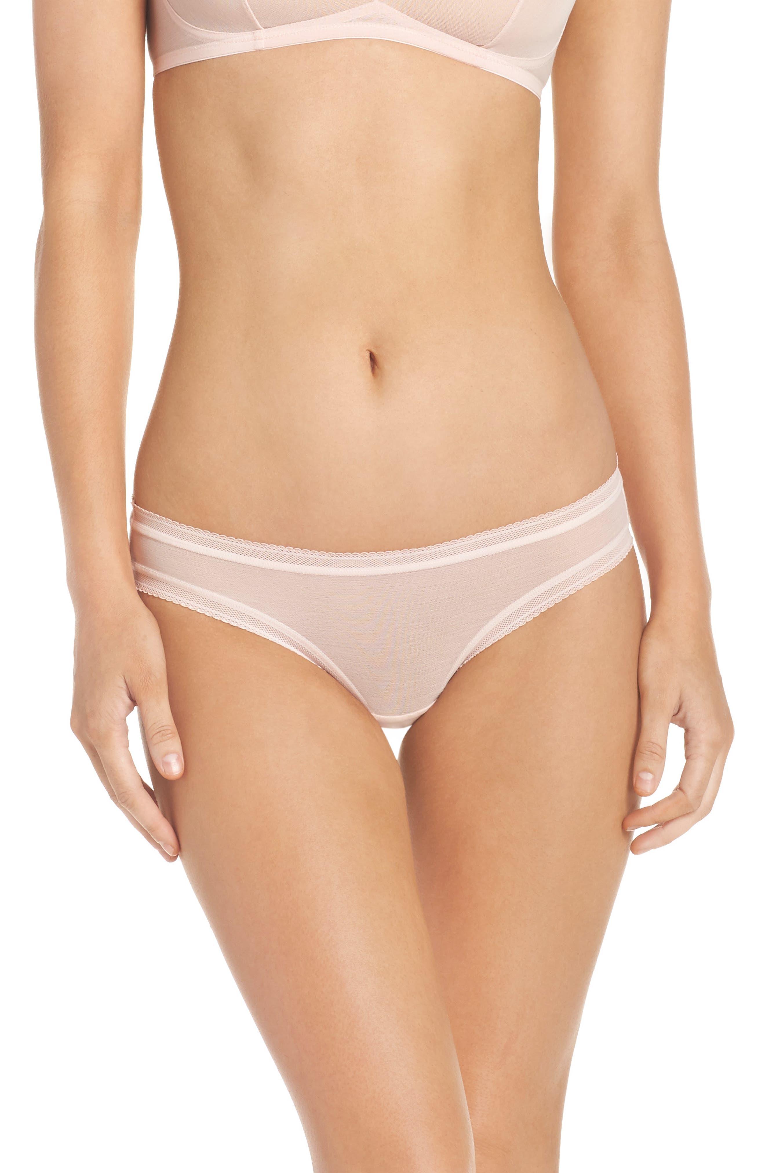 Alternate Image 1 Selected - On Gossamer Mesh Bikini (3 for $45)