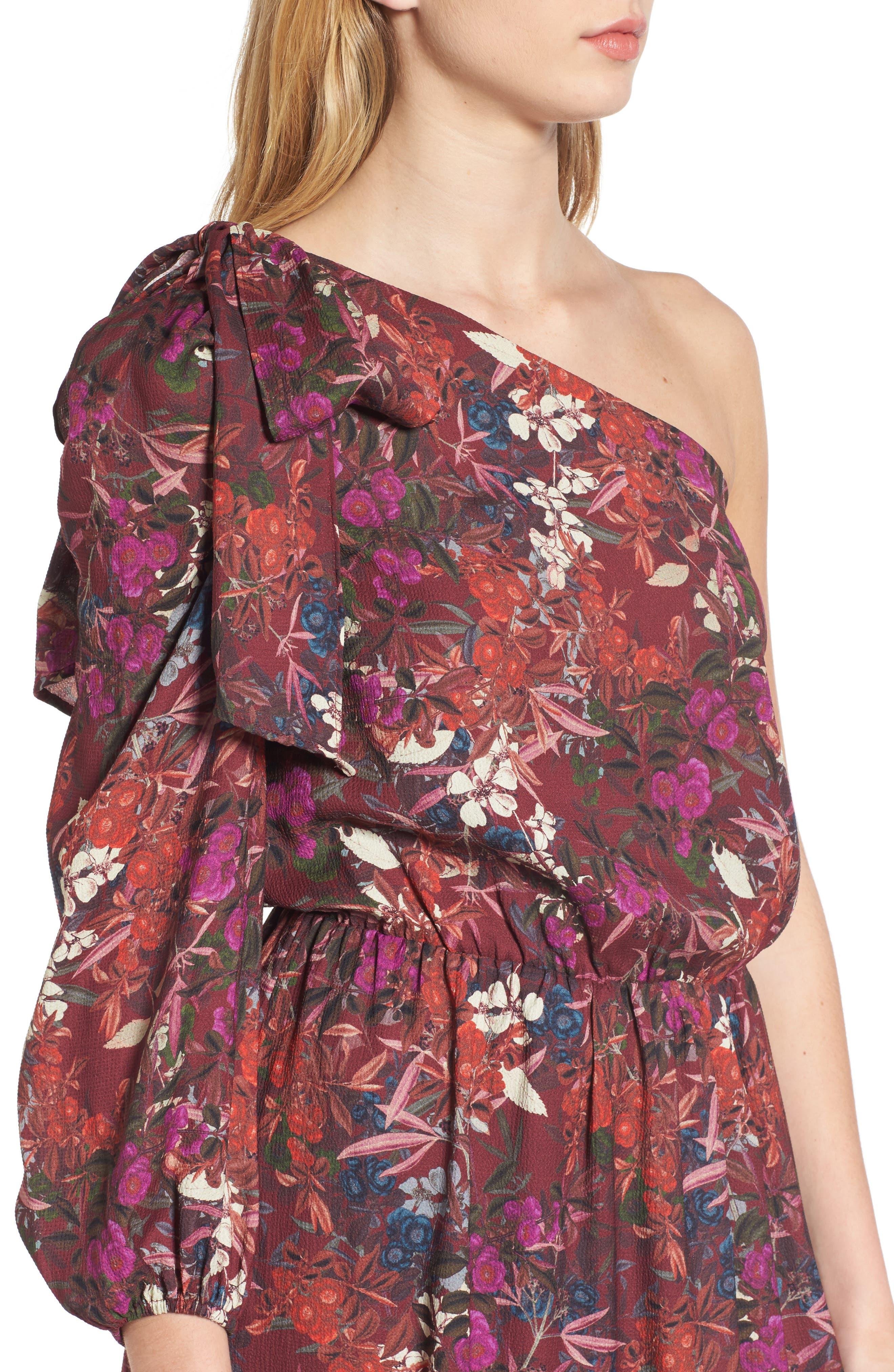 Alternate Image 4  - Chelsea28 Asymmetrical Tiered Blouson Dress