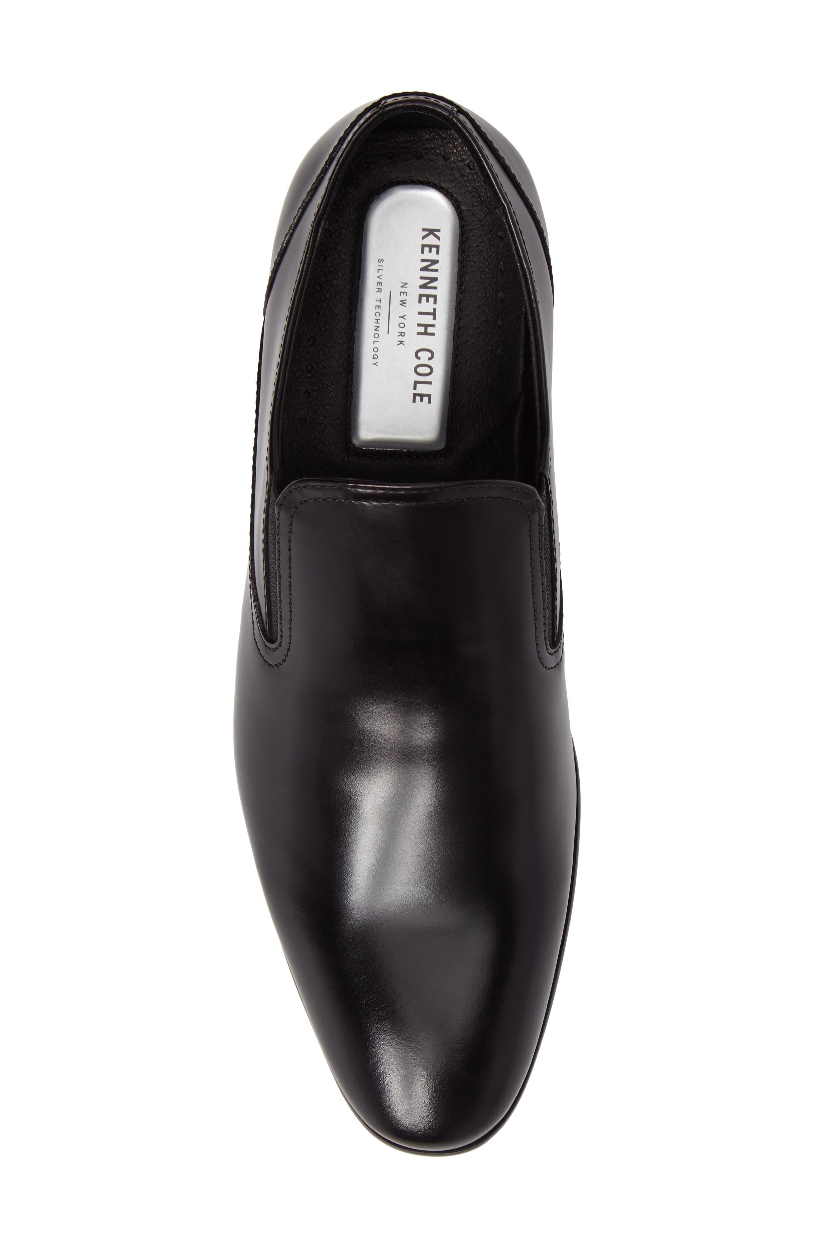 Venetian Loafer,                             Alternate thumbnail 5, color,                             Black Leather