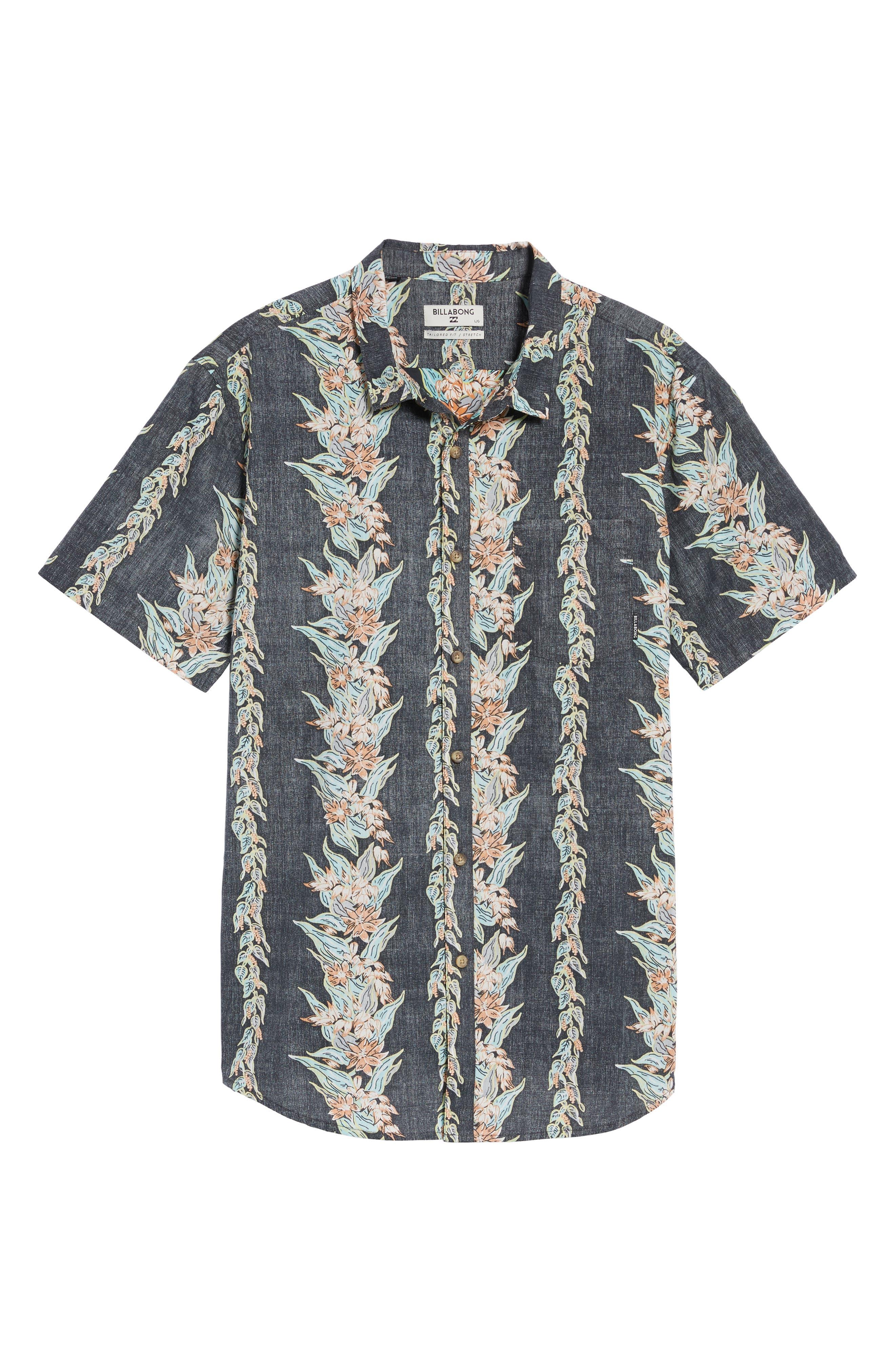 Sundays Floral Woven Shirt,                             Alternate thumbnail 6, color,                             Black