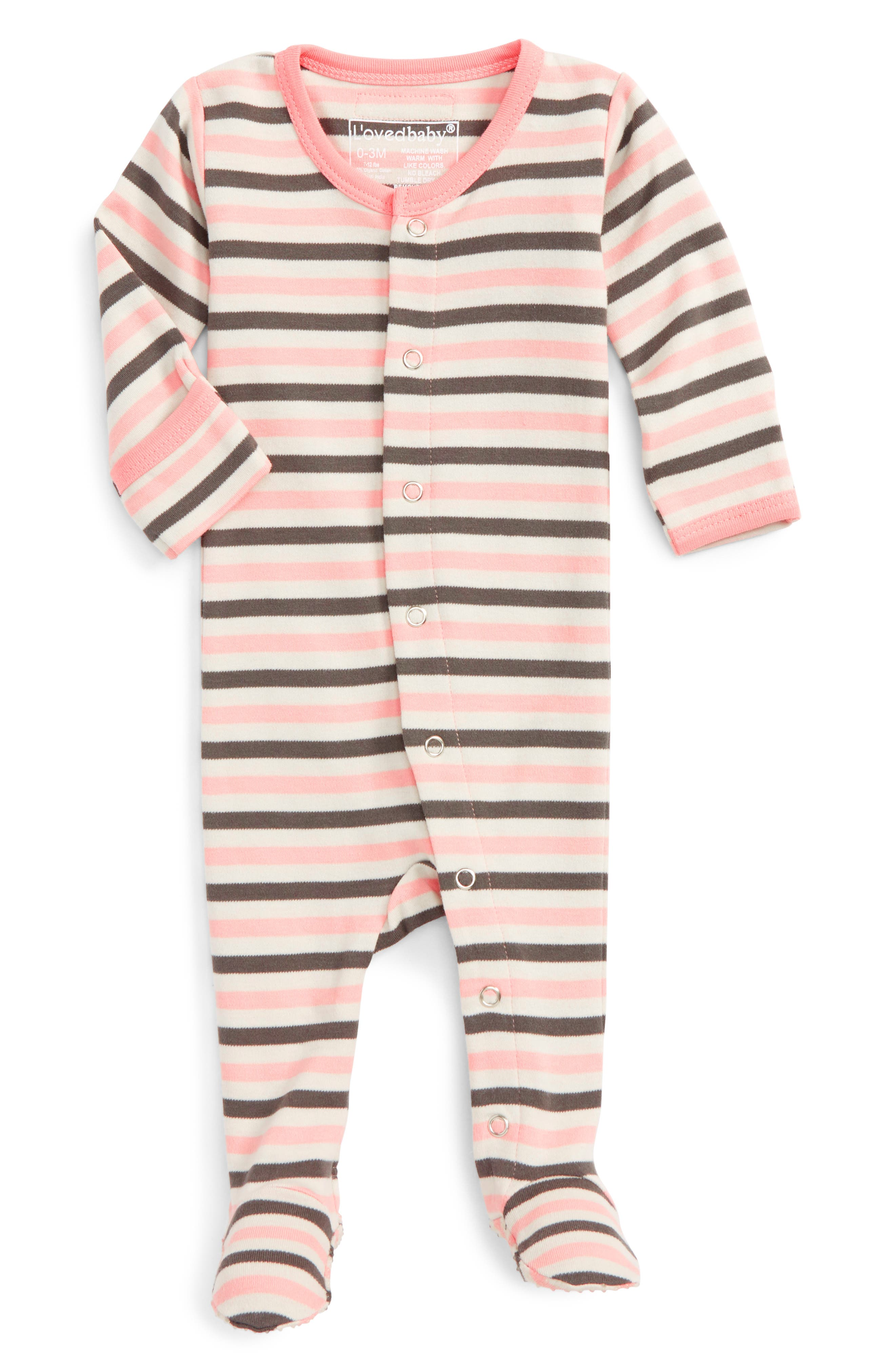 Main Image - L'ovedbaby Organic Cotton Footie (Baby)