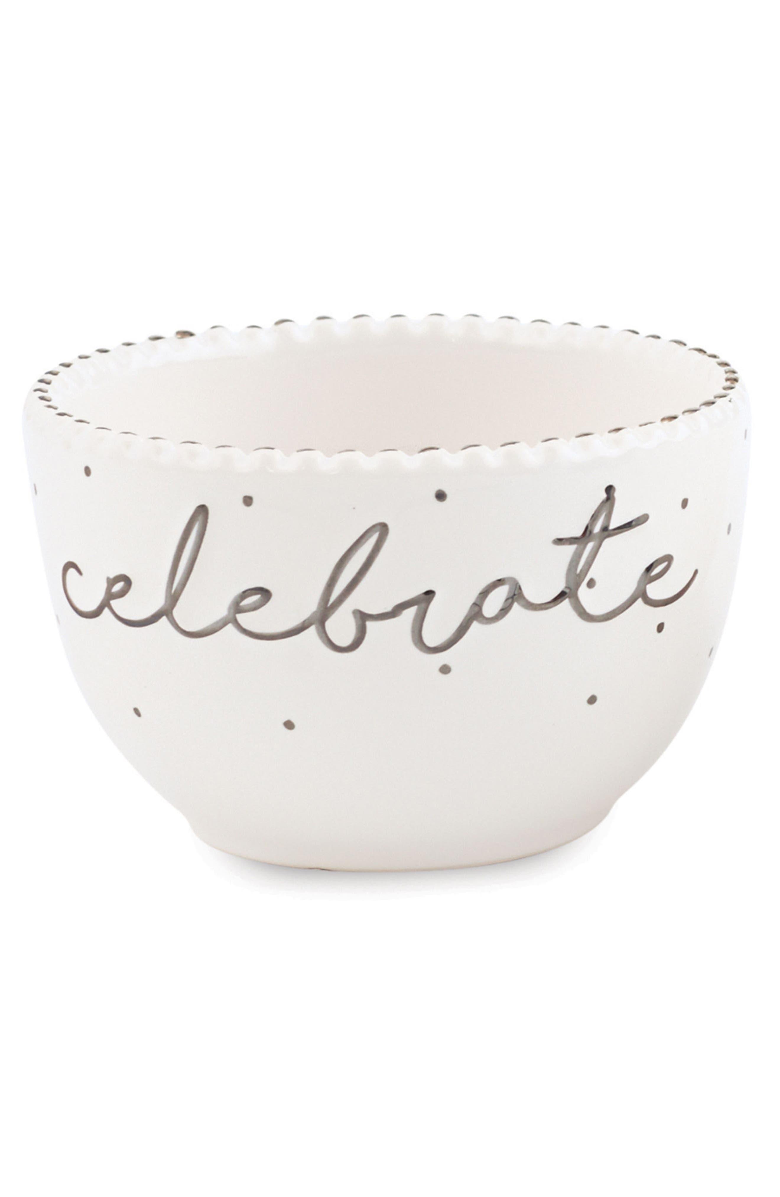 Alternate Image 1 Selected - Mud Pie Celebrate Stoneware Dip Cup