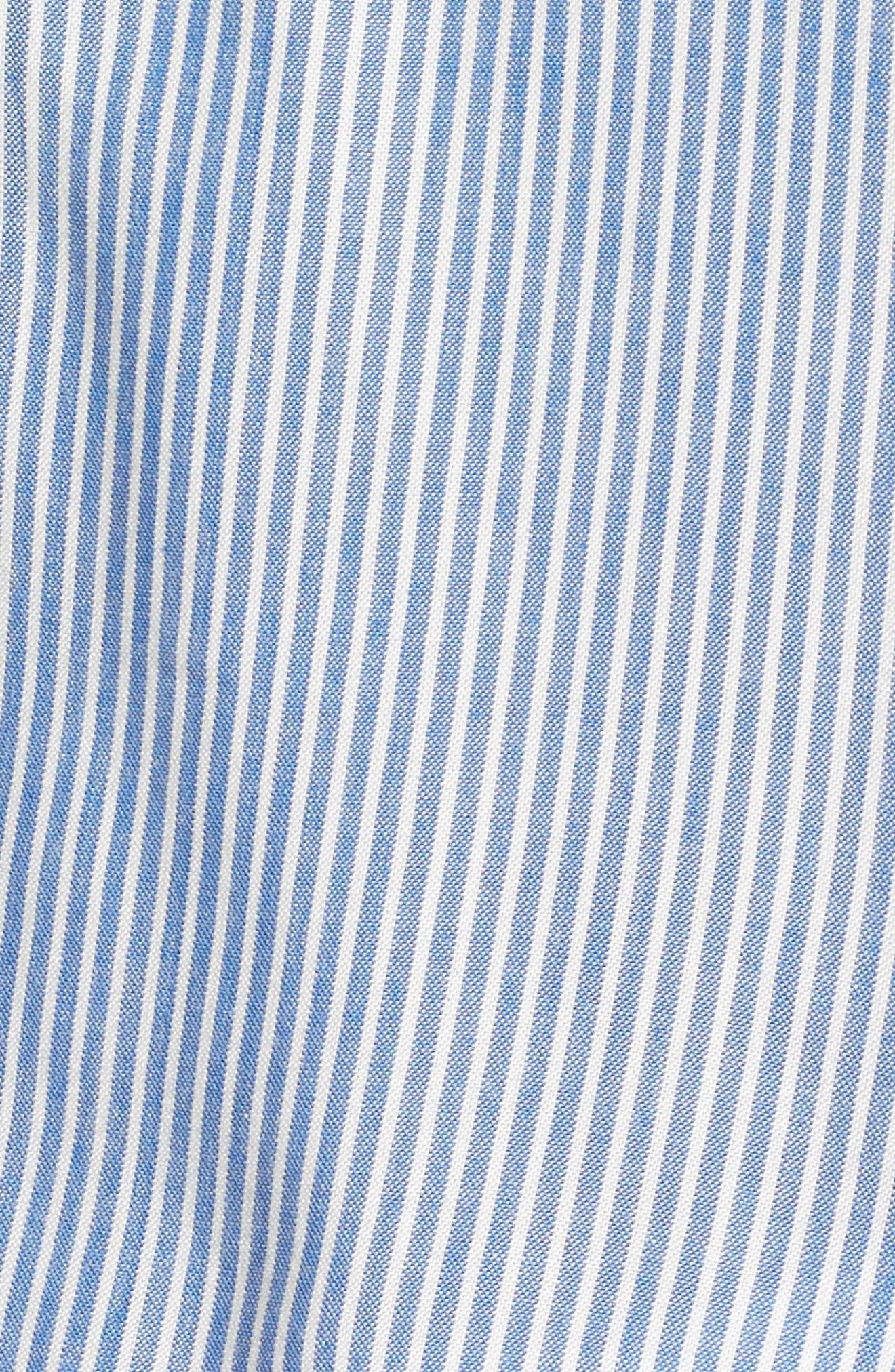 Eden Cold Shoulder Halter Top,                             Alternate thumbnail 5, color,                             Blue Stripe