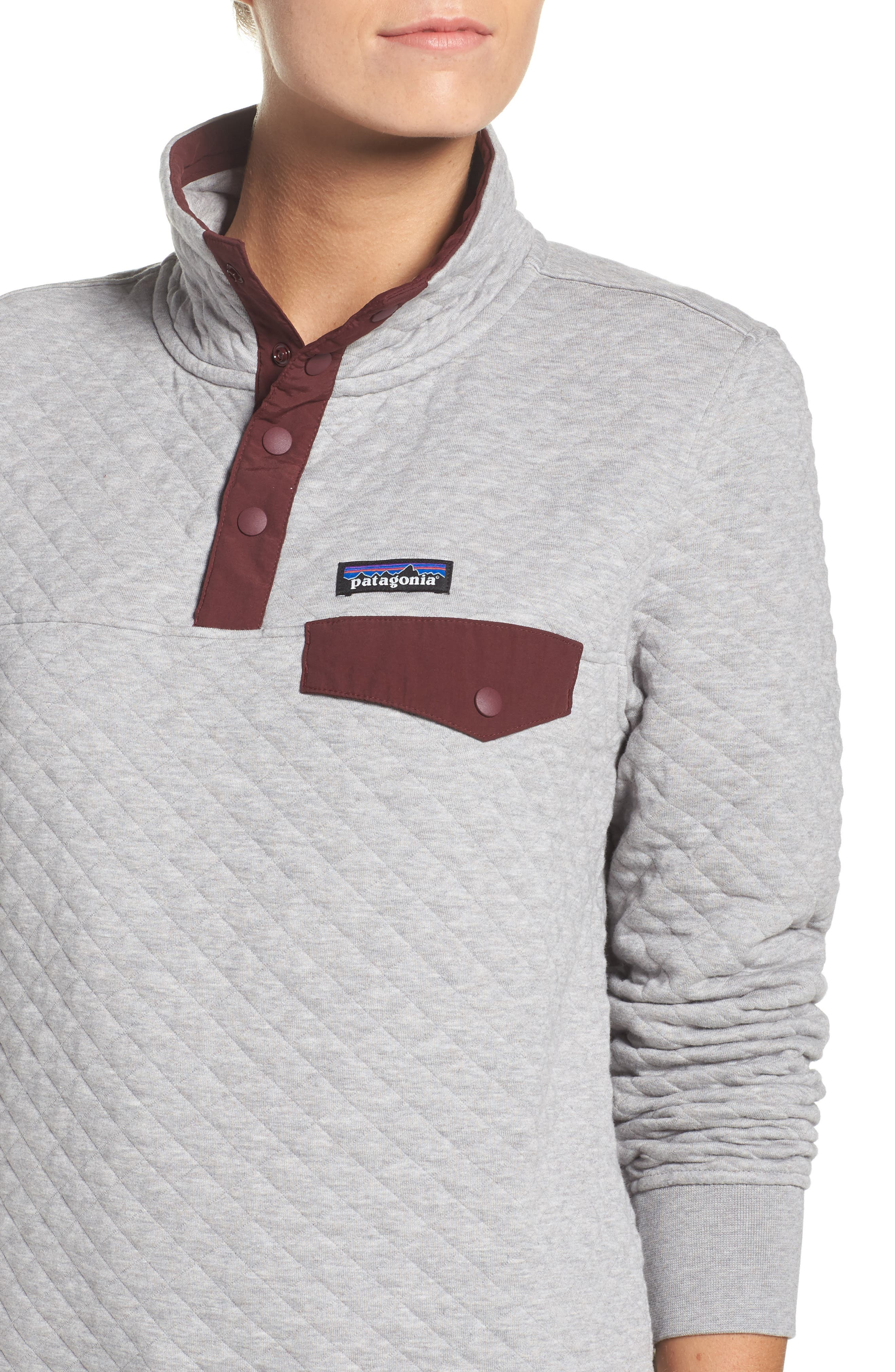 Alternate Image 4  - Patagonia Snap-T® Quilted Pullover