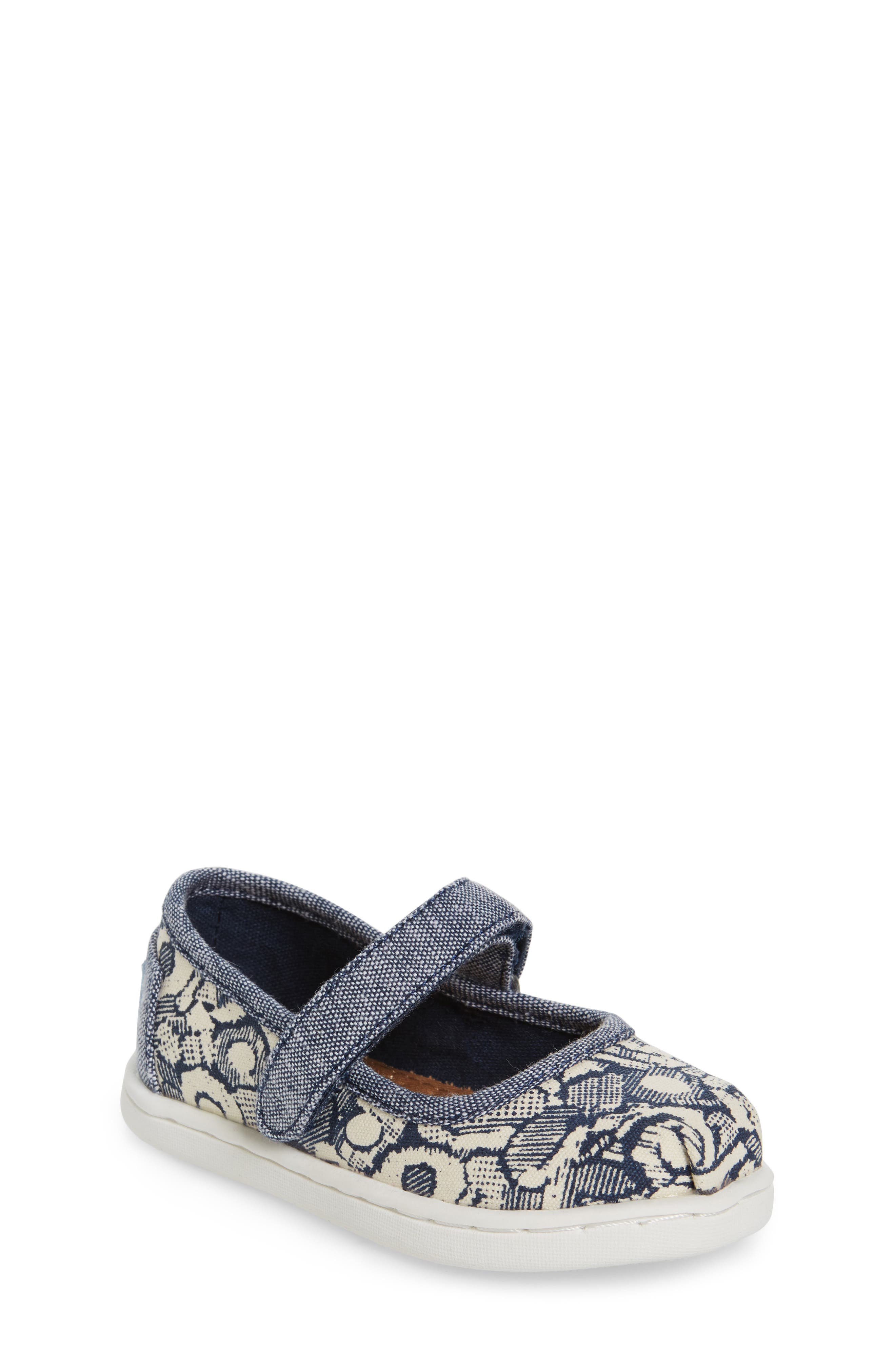 TOMS Floral Camo Mary Jane (Baby, Walker & Toddler)