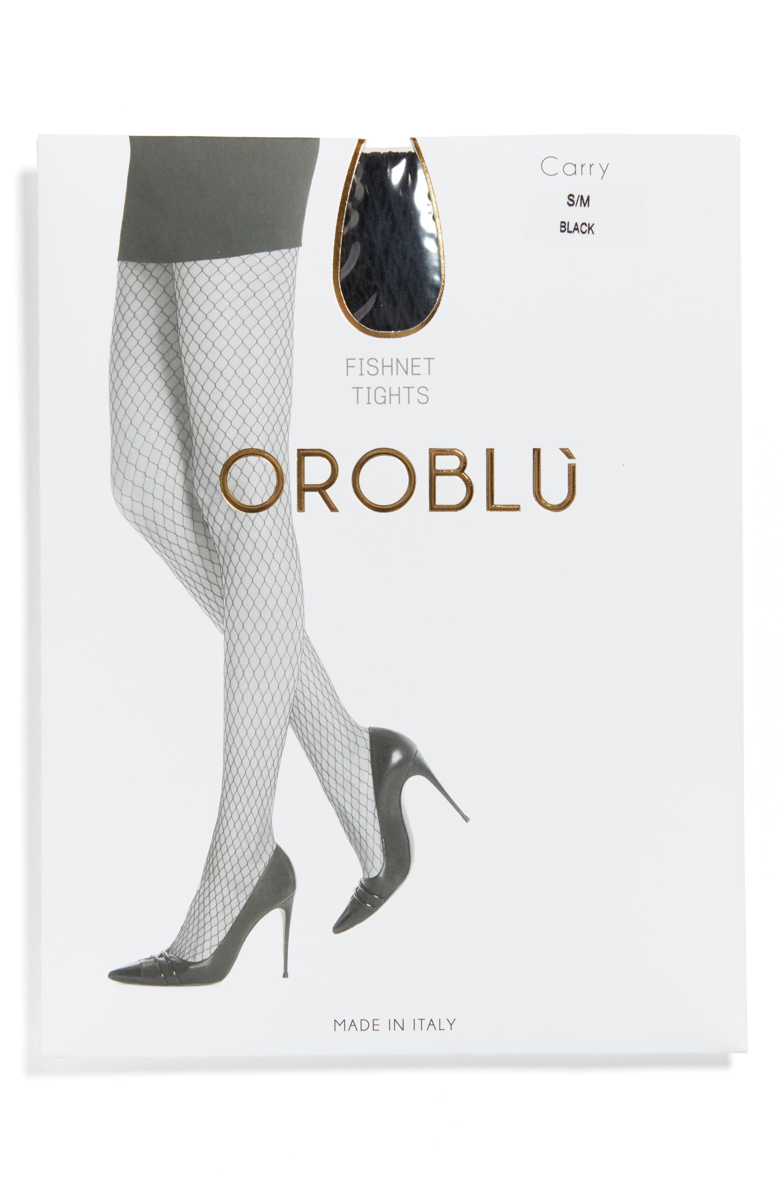 Alternate Image 2  - Oroblu Carry Fishnet Tights