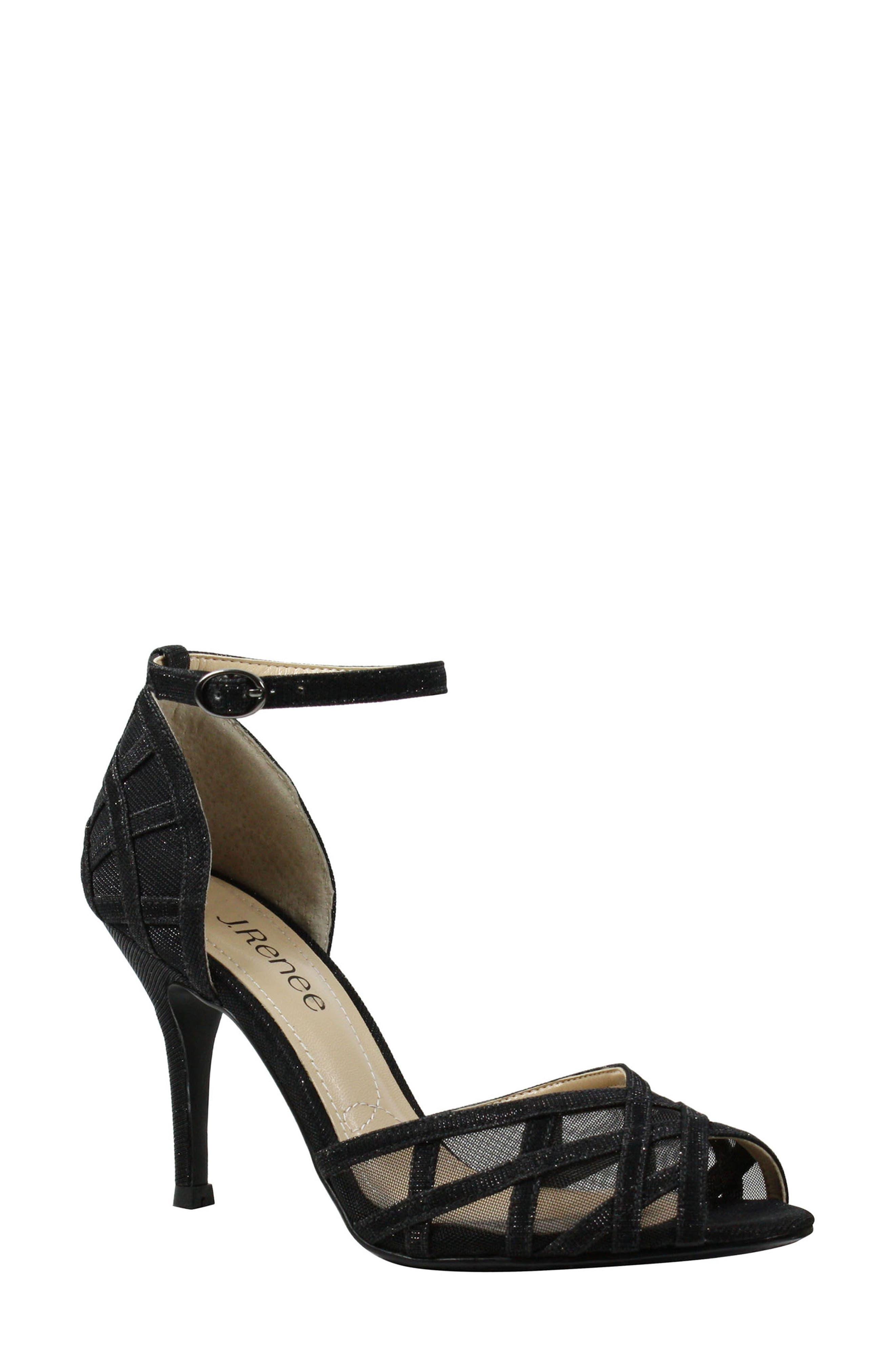 J. Reneé Mataro Embellished Ankle Strap Pump (Women)