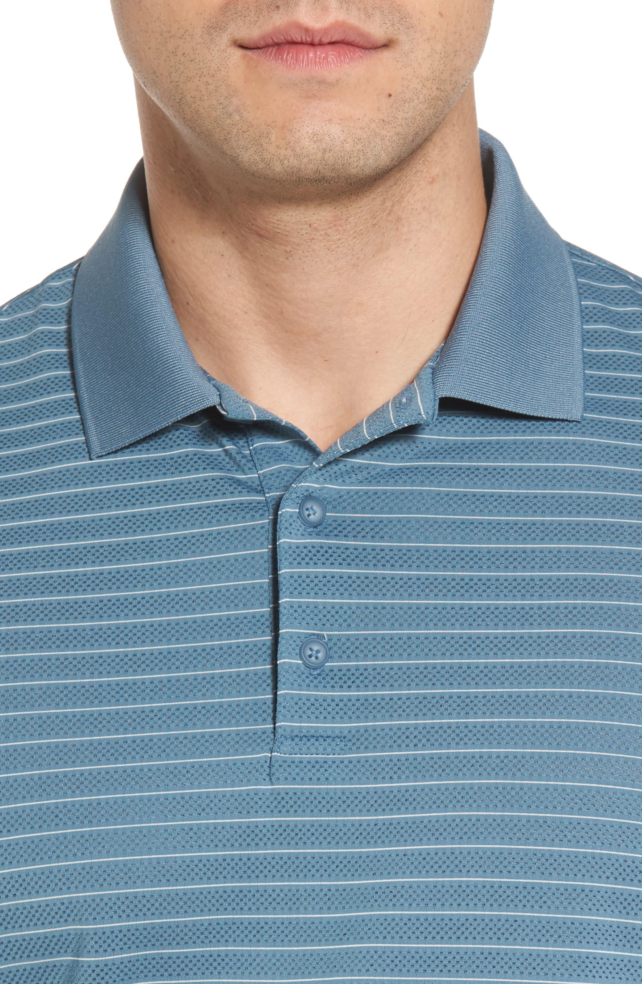 Trexler Stripe Polo,                             Alternate thumbnail 4, color,                             Blue Print