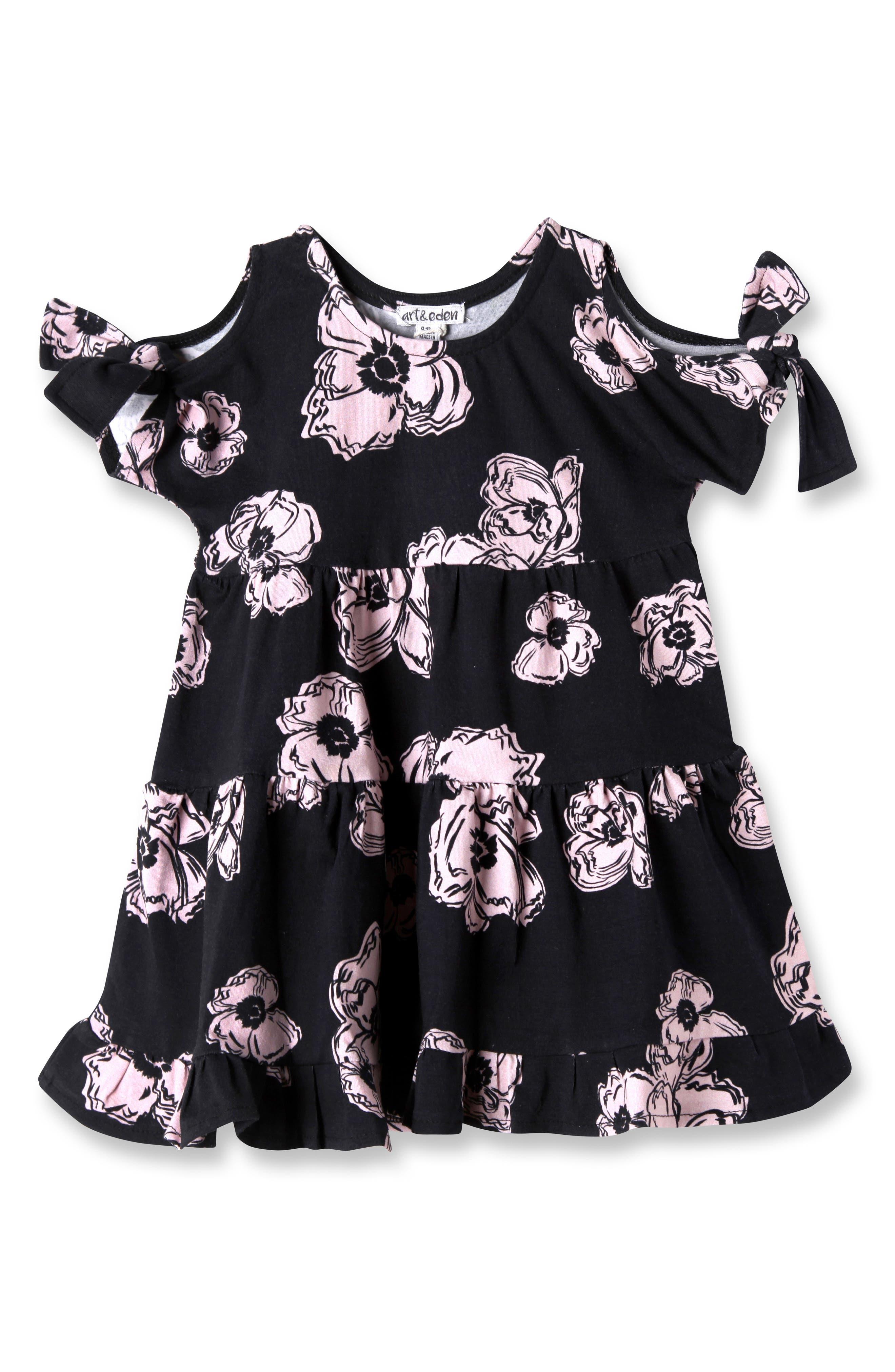 Emma Cold Shoulder Dress,                         Main,                         color, Black