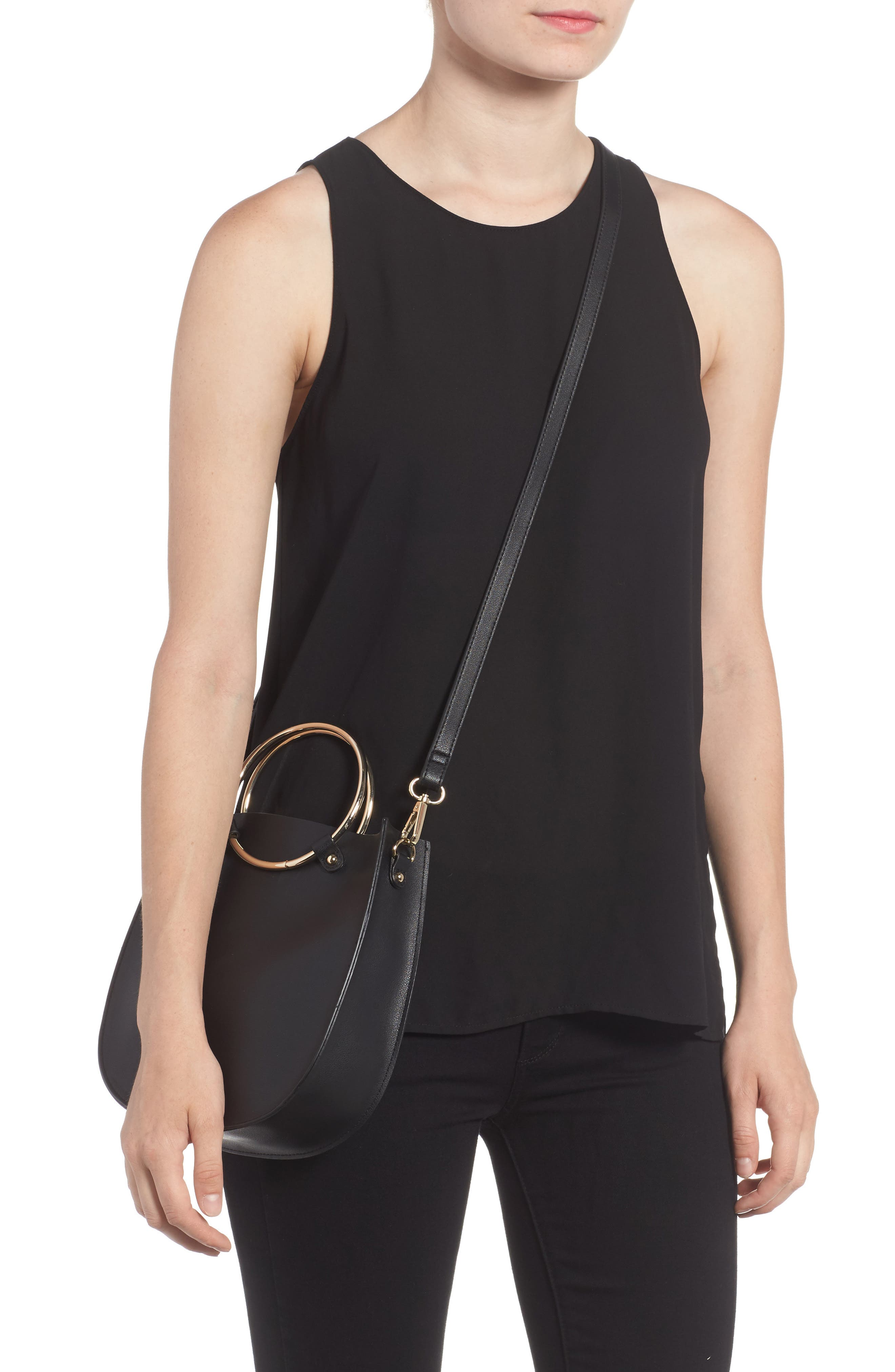 Alternate Image 2  - BP. Metal Ring Crossbody Bag