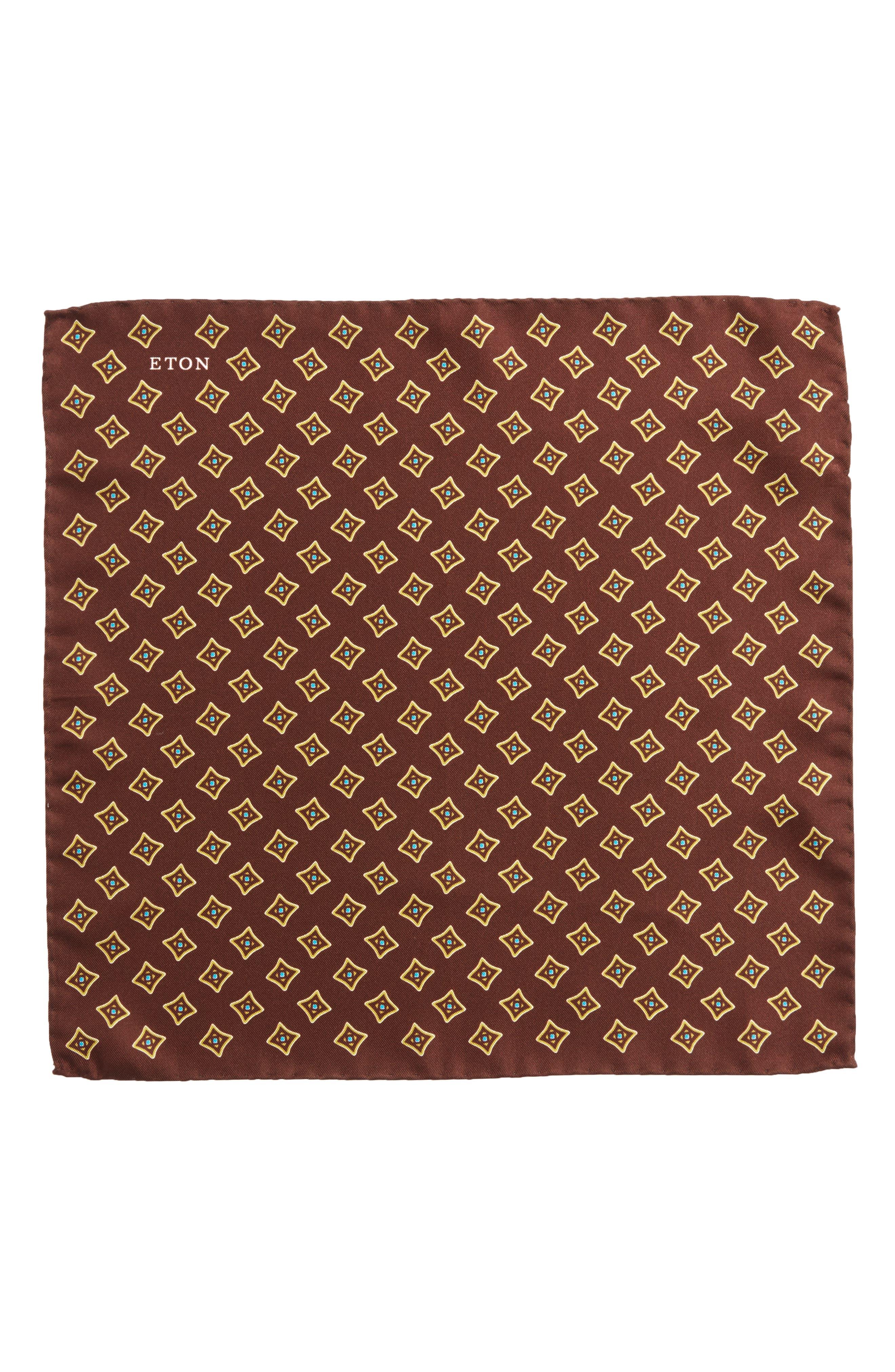 Alternate Image 2  - Eton Medallion Silk Pocket Square