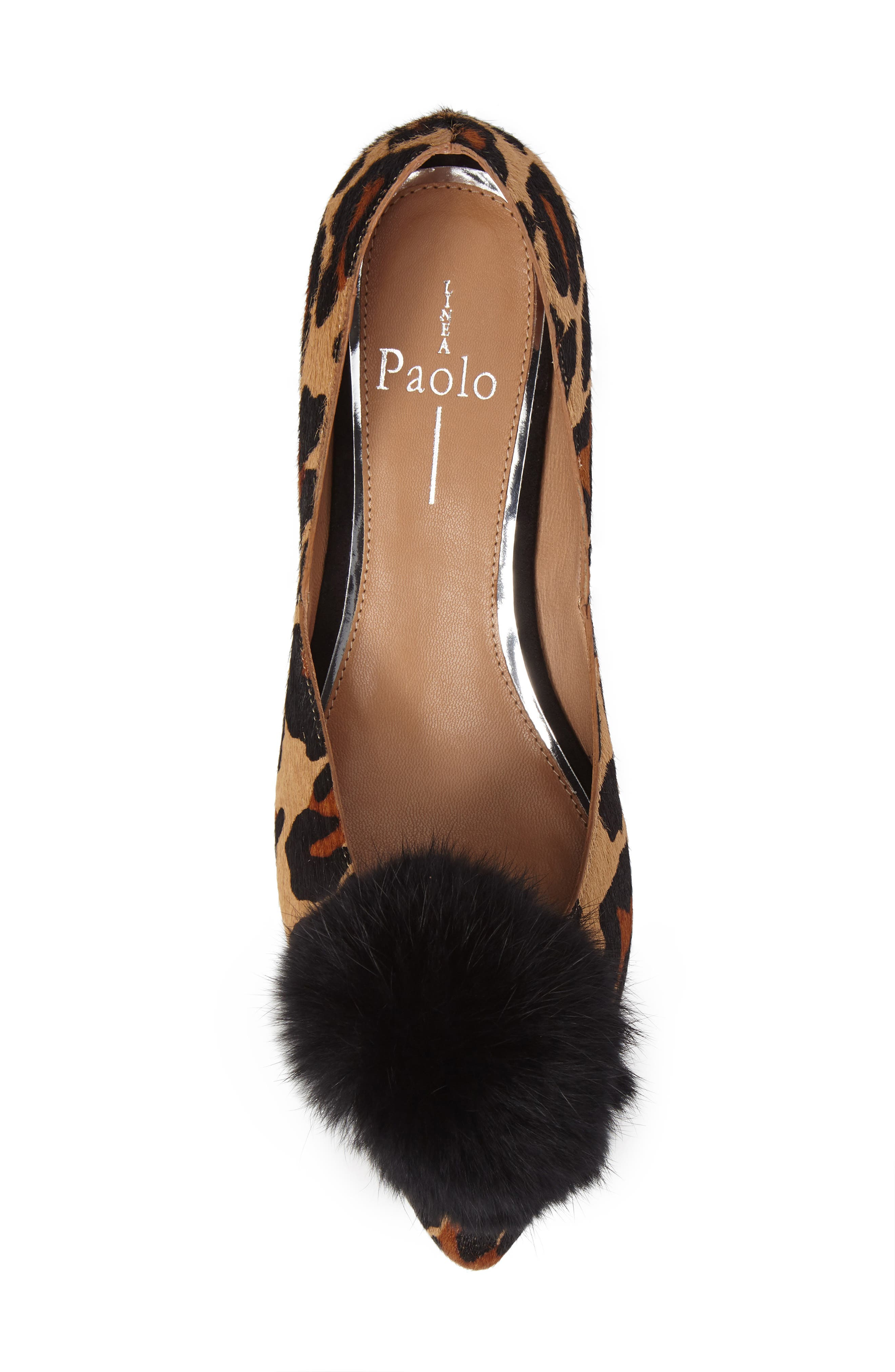 Alternate Image 5  - Linea Paolo Camille II Genuine Calf Hair d'Orsay Pump with Genuine Rabbit Fur Pompom (Women)