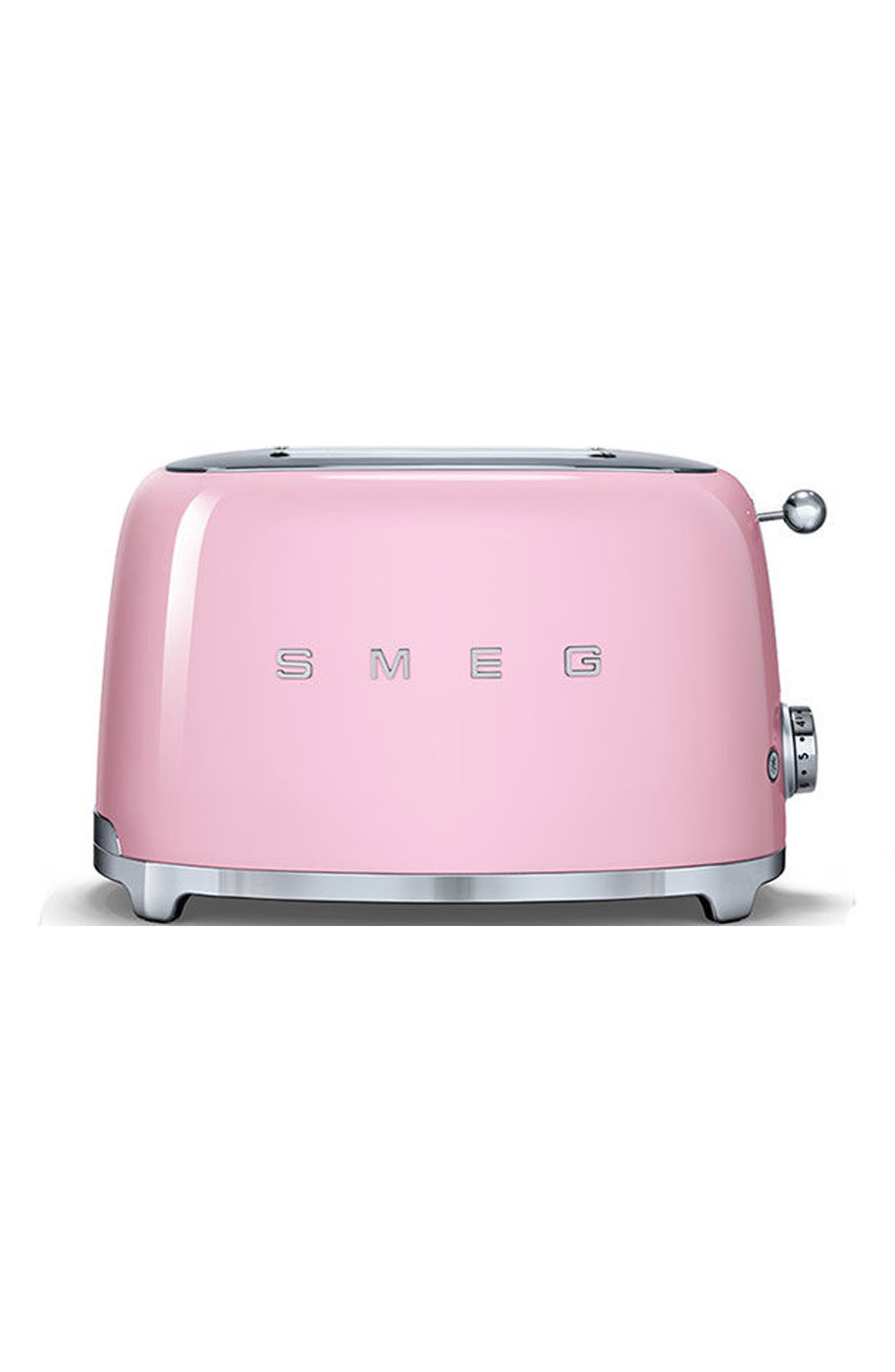 50s Retro Style Two-Slice Toaster,                             Main thumbnail 1, color,                             Pink