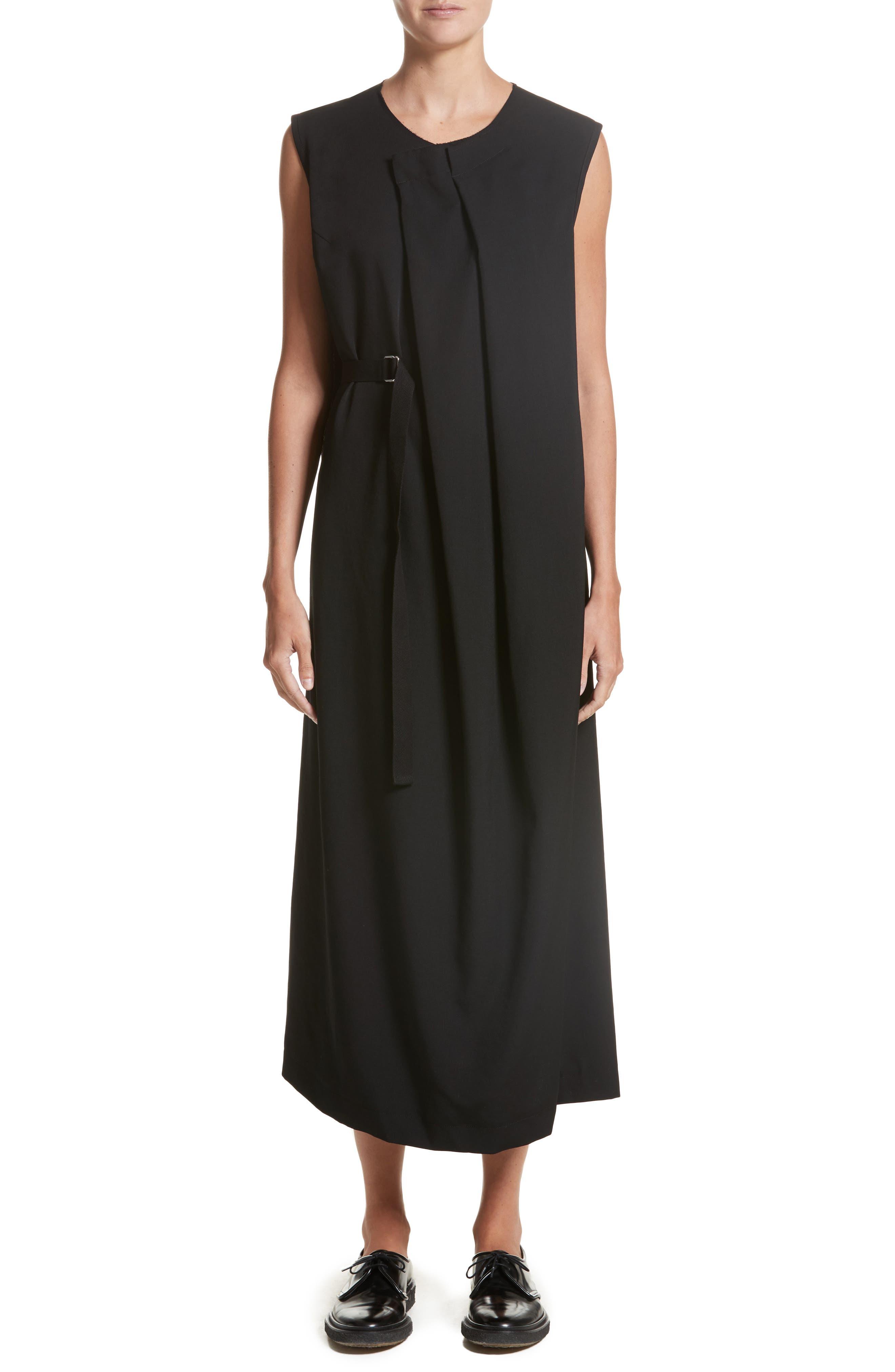 N-F Pleats Dress,                         Main,                         color, Black
