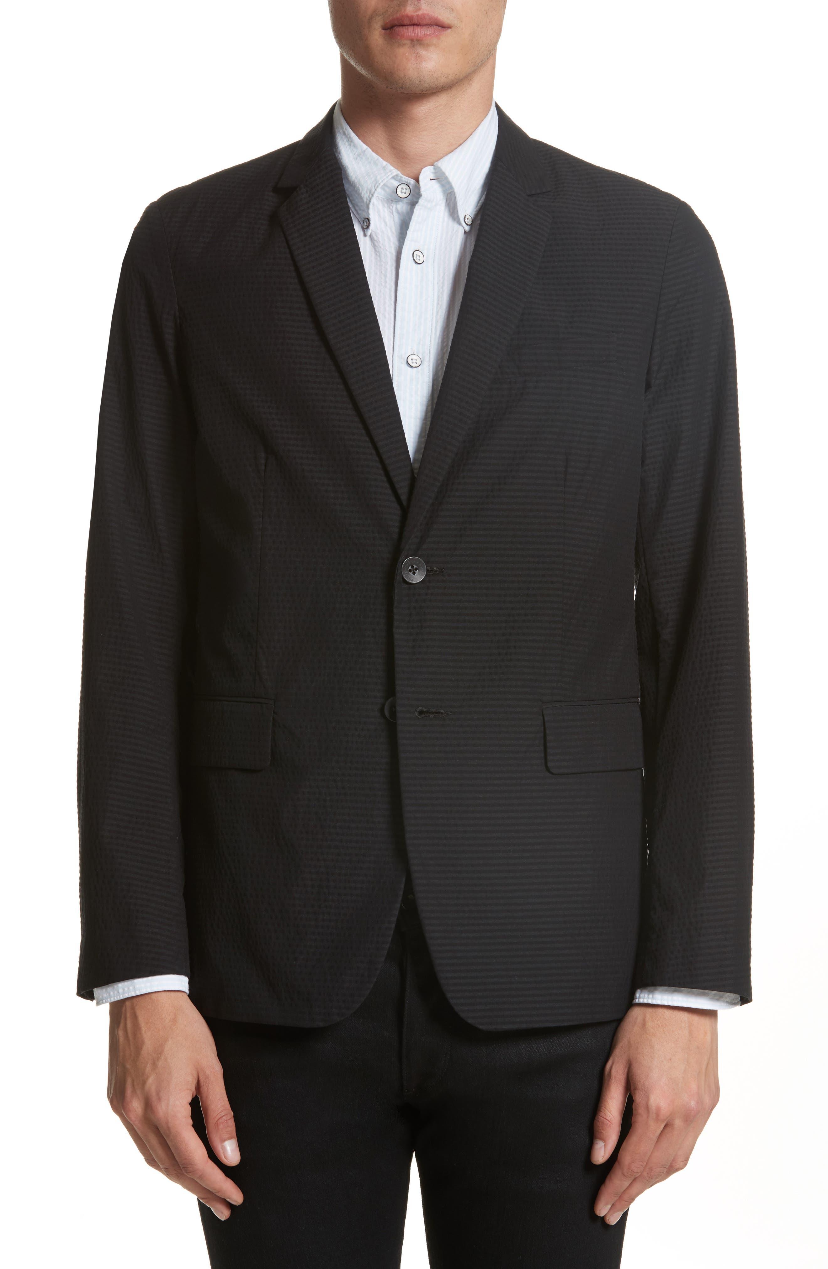 Philips Cotton Blend Blazer,                         Main,                         color, Black