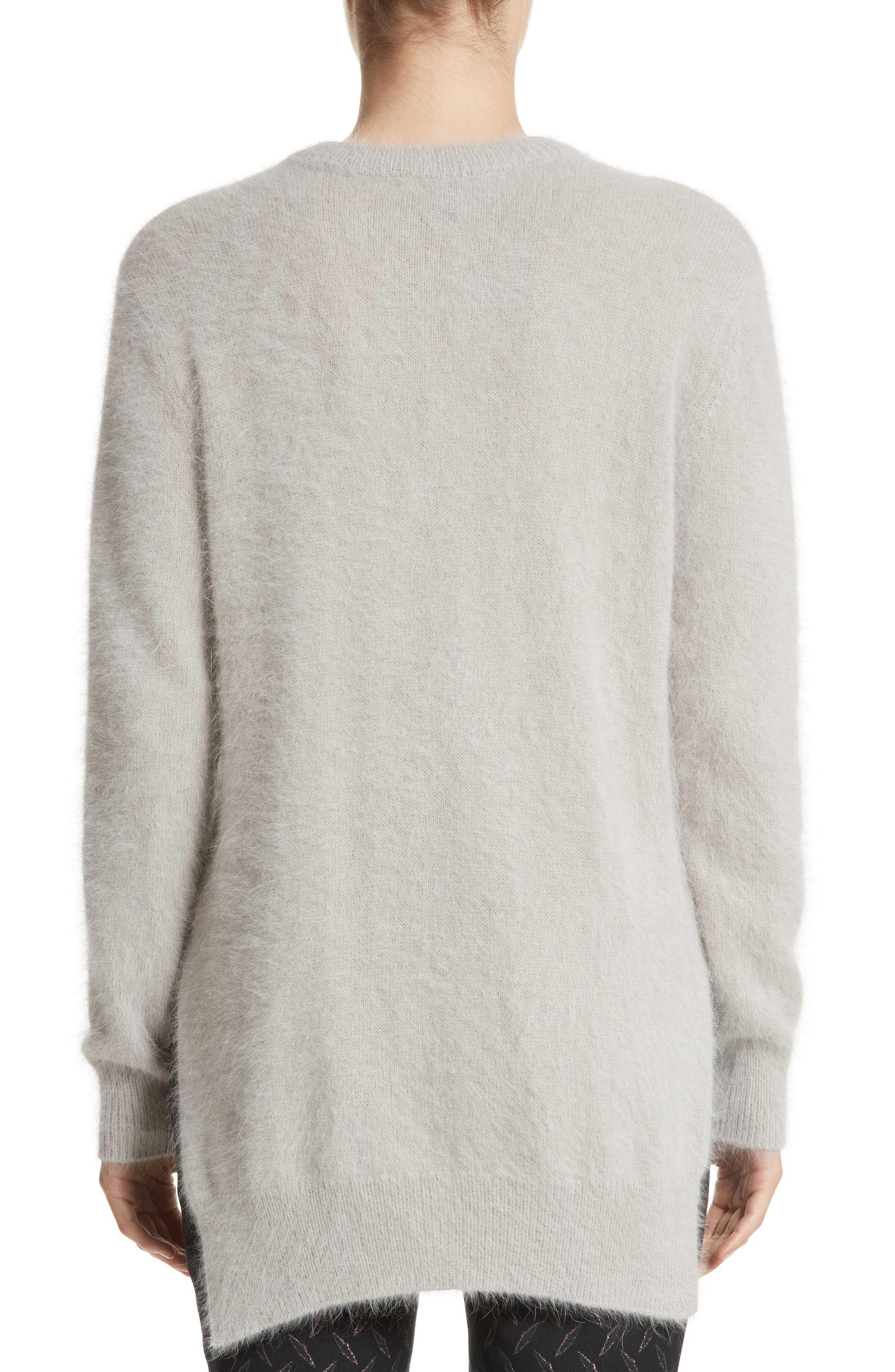 Angora Blend Sweater,                             Alternate thumbnail 2, color,                             Grey
