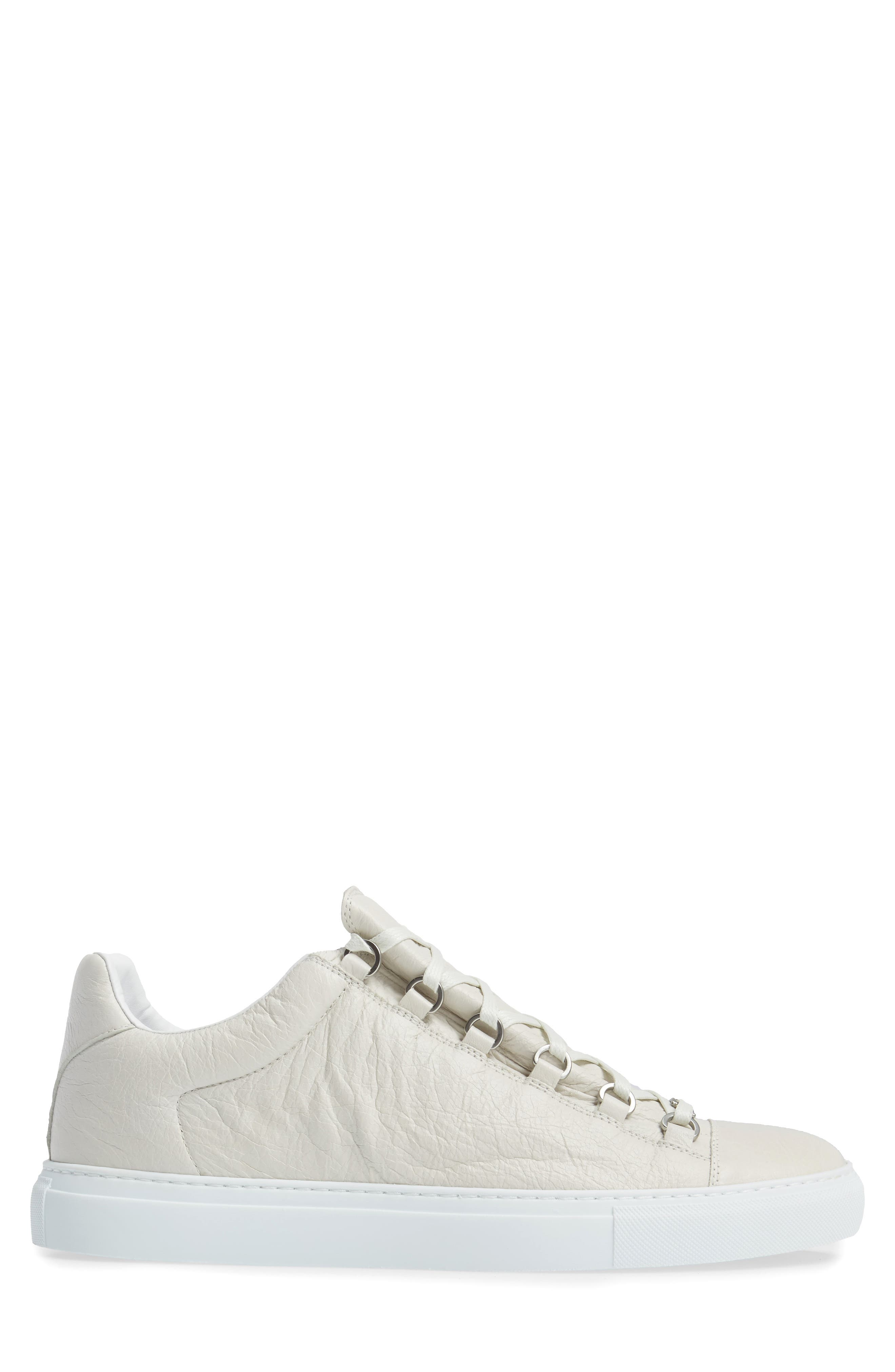 Arena Low Sneaker,                             Alternate thumbnail 3, color,                             Extra Blanc Leather