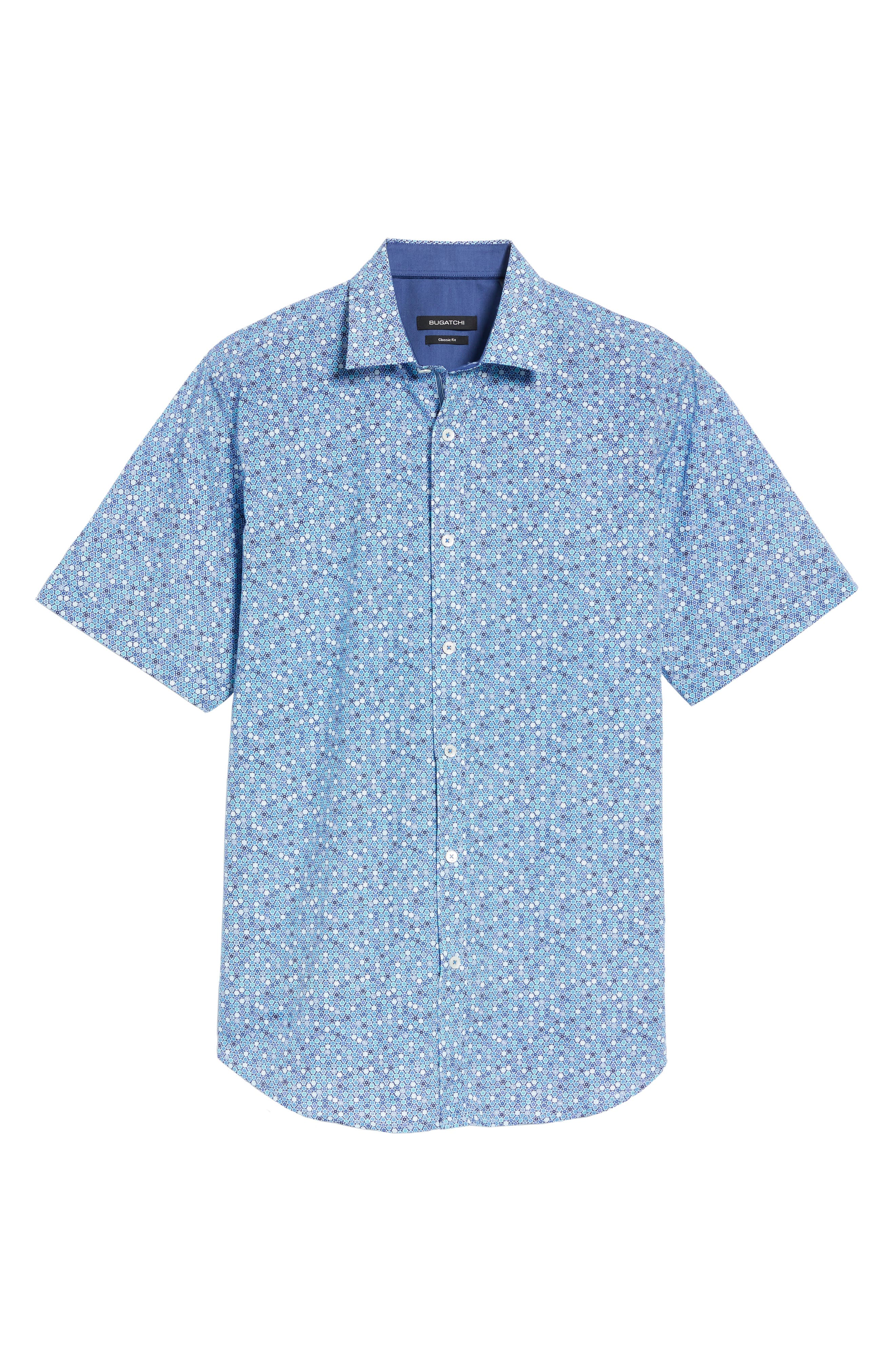 Alternate Image 6  - Bugatchi Classic Fit Flower Print Sport Shirt