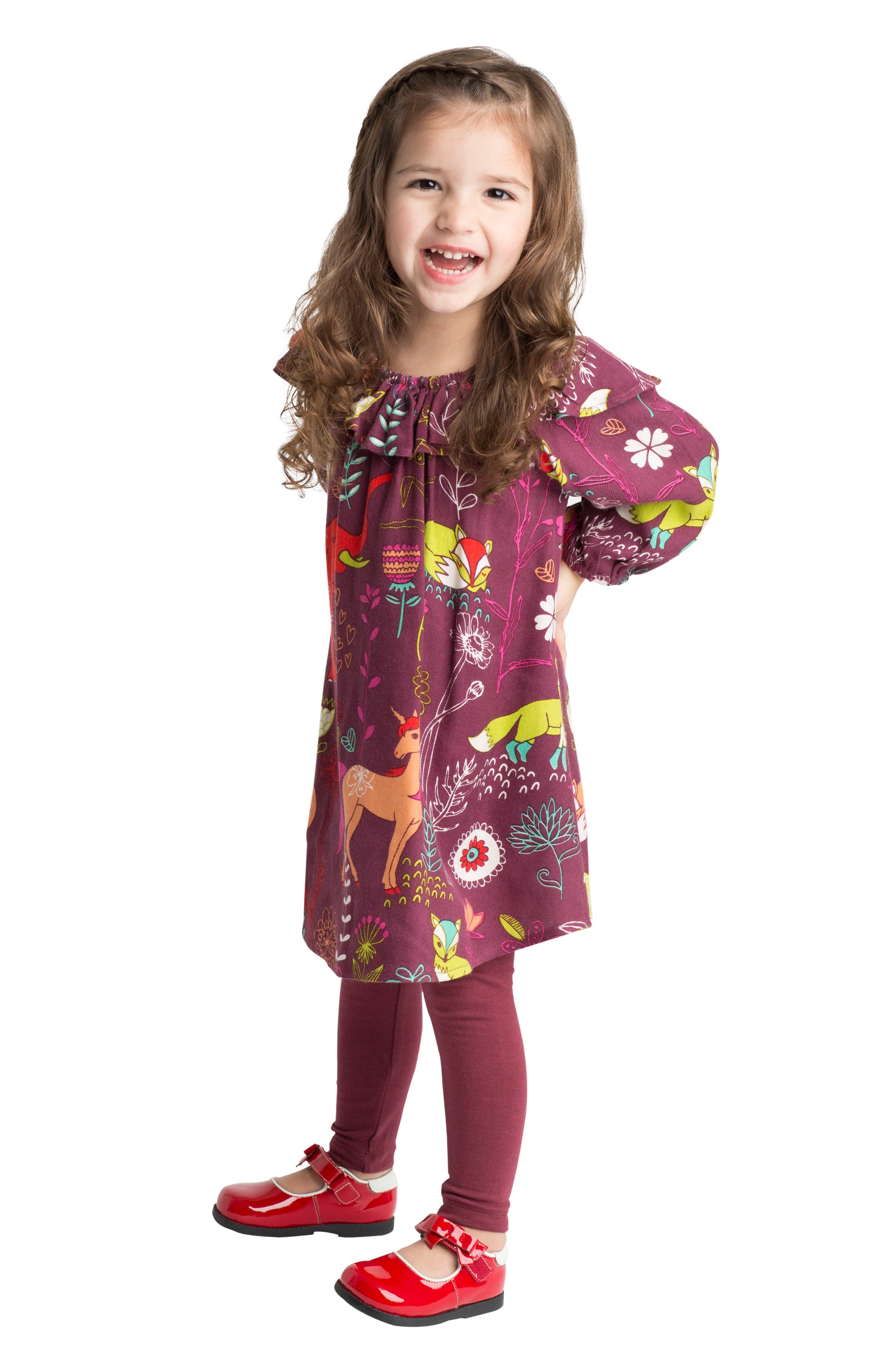 Alternate Image 2  - Masalababy Anais Magical Forest Dress (Baby Girls)