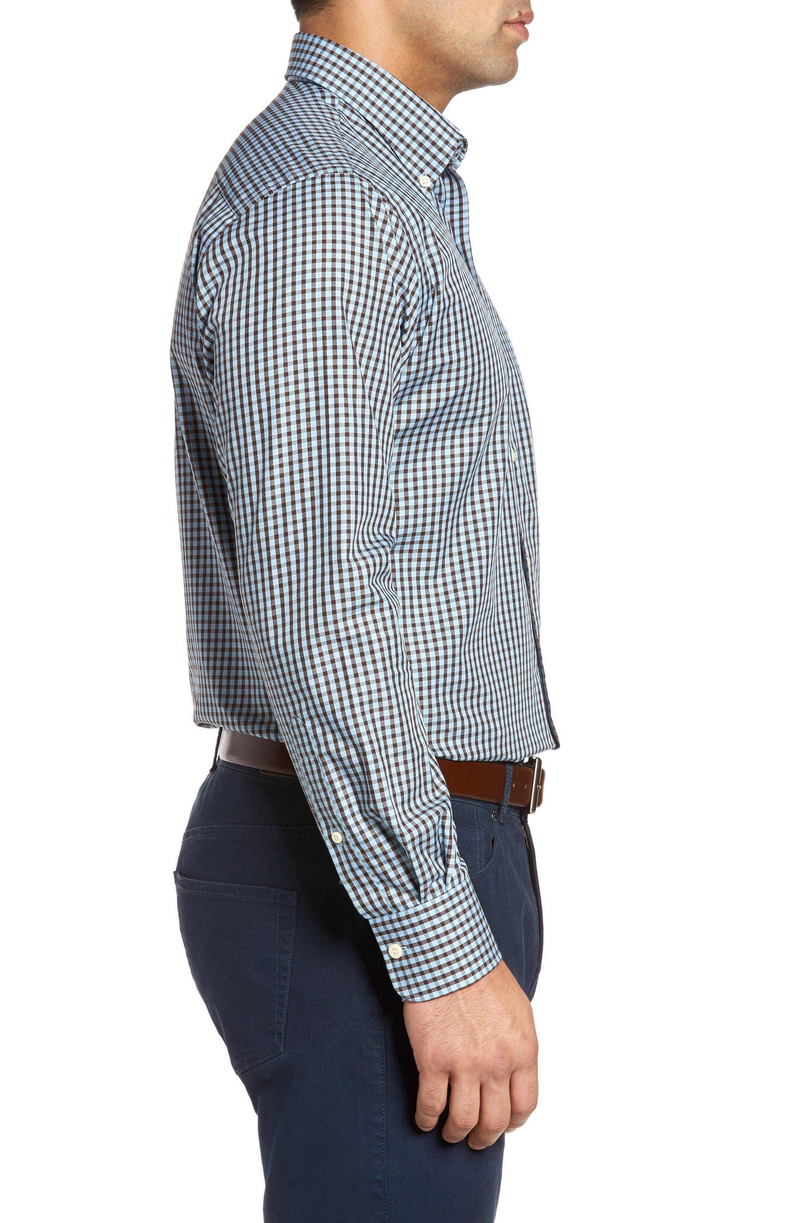 Alternate Image 3  - Peter Millar Midwinter Gingham Regular Fit Sport Shirt
