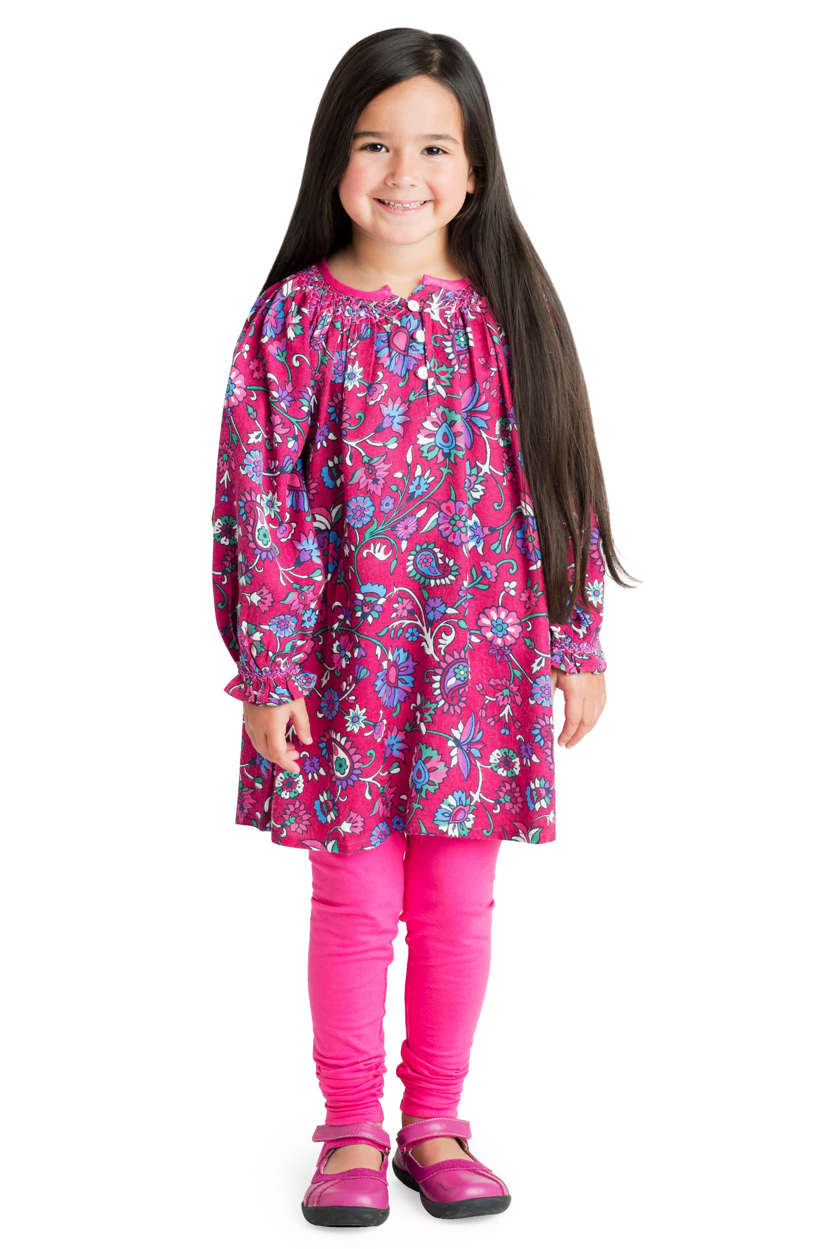 Alternate Image 2  - Masalababy Ada Floral Dress (Toddler Girls, Little Girls & Big Girls)