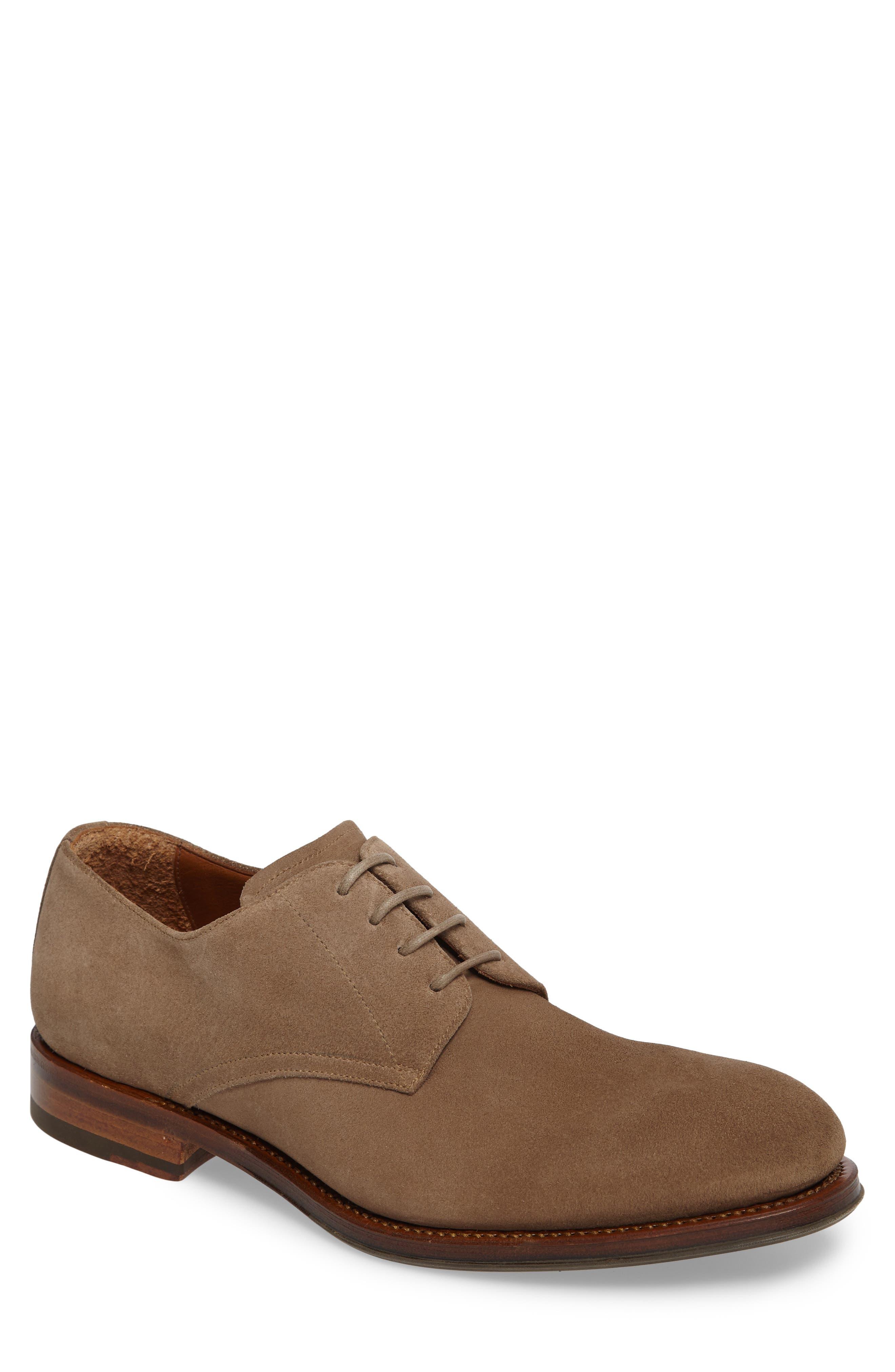 'Vance' Plain Toe Derby,                         Main,                         color, Beige Suede