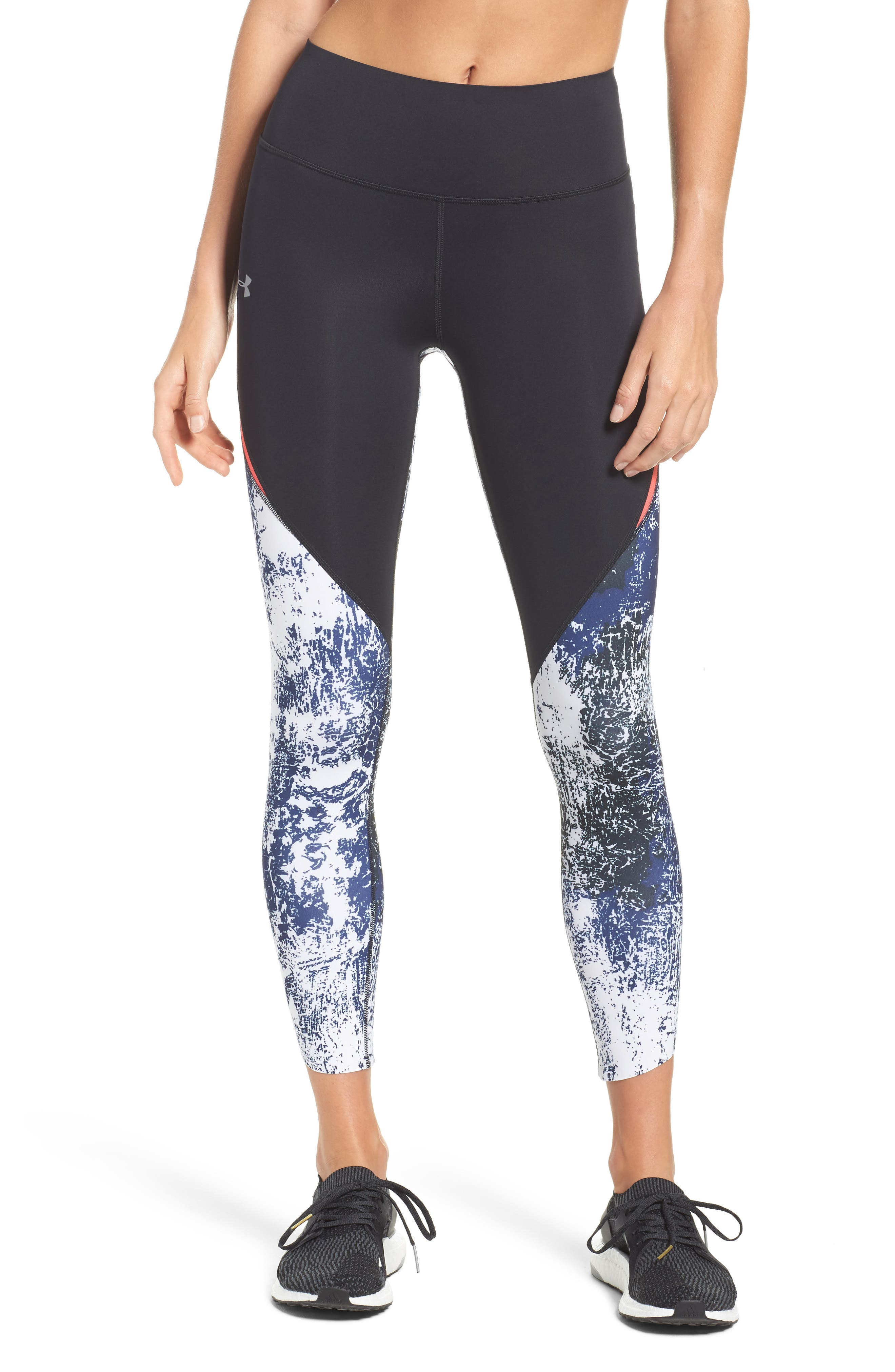 Runtrue Breathelux Crop Leggings,                             Main thumbnail 1, color,                             Black/ Red/ Reflective