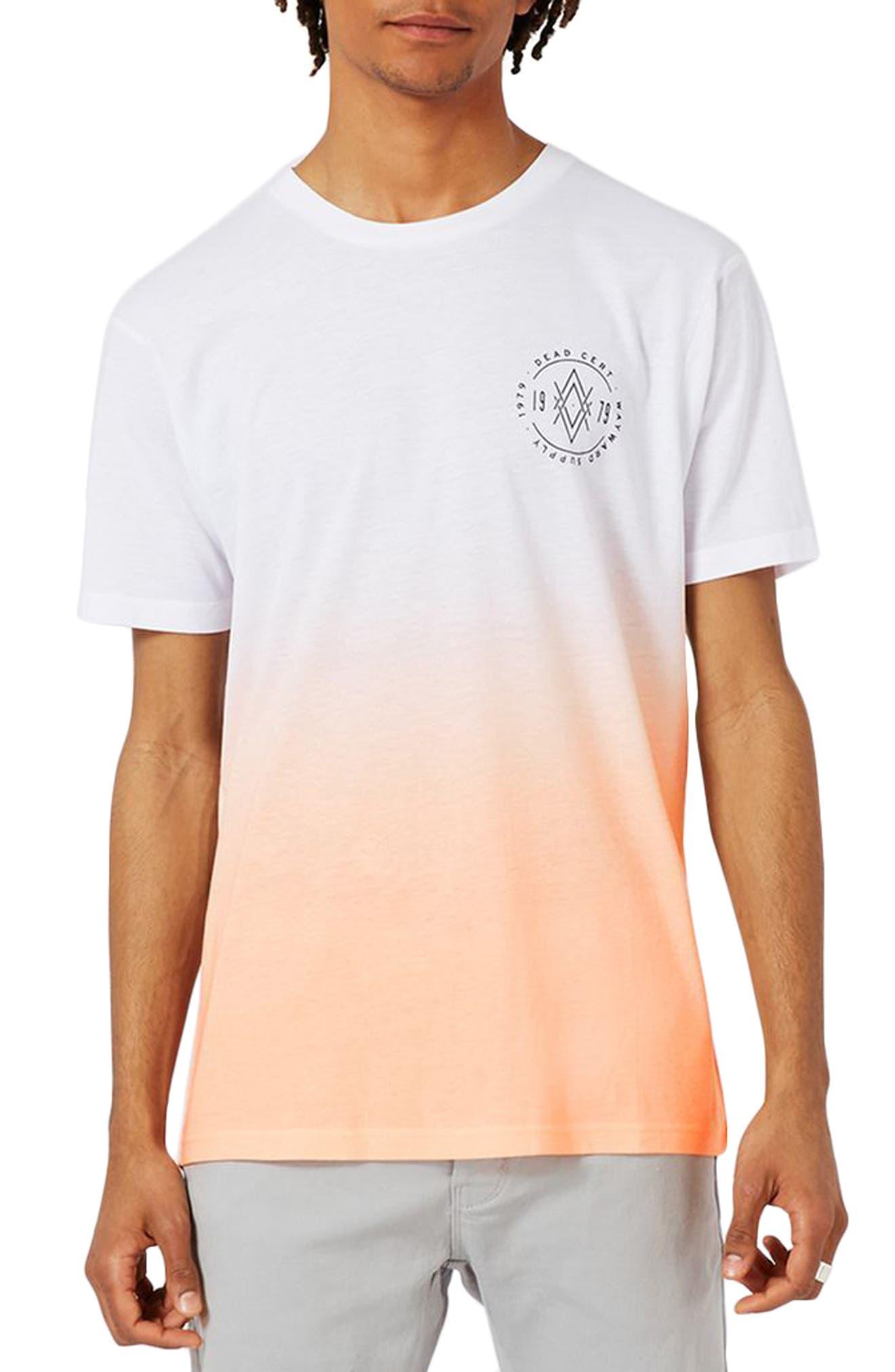 TOPMAN 1979 Print Ombré T-Shirt