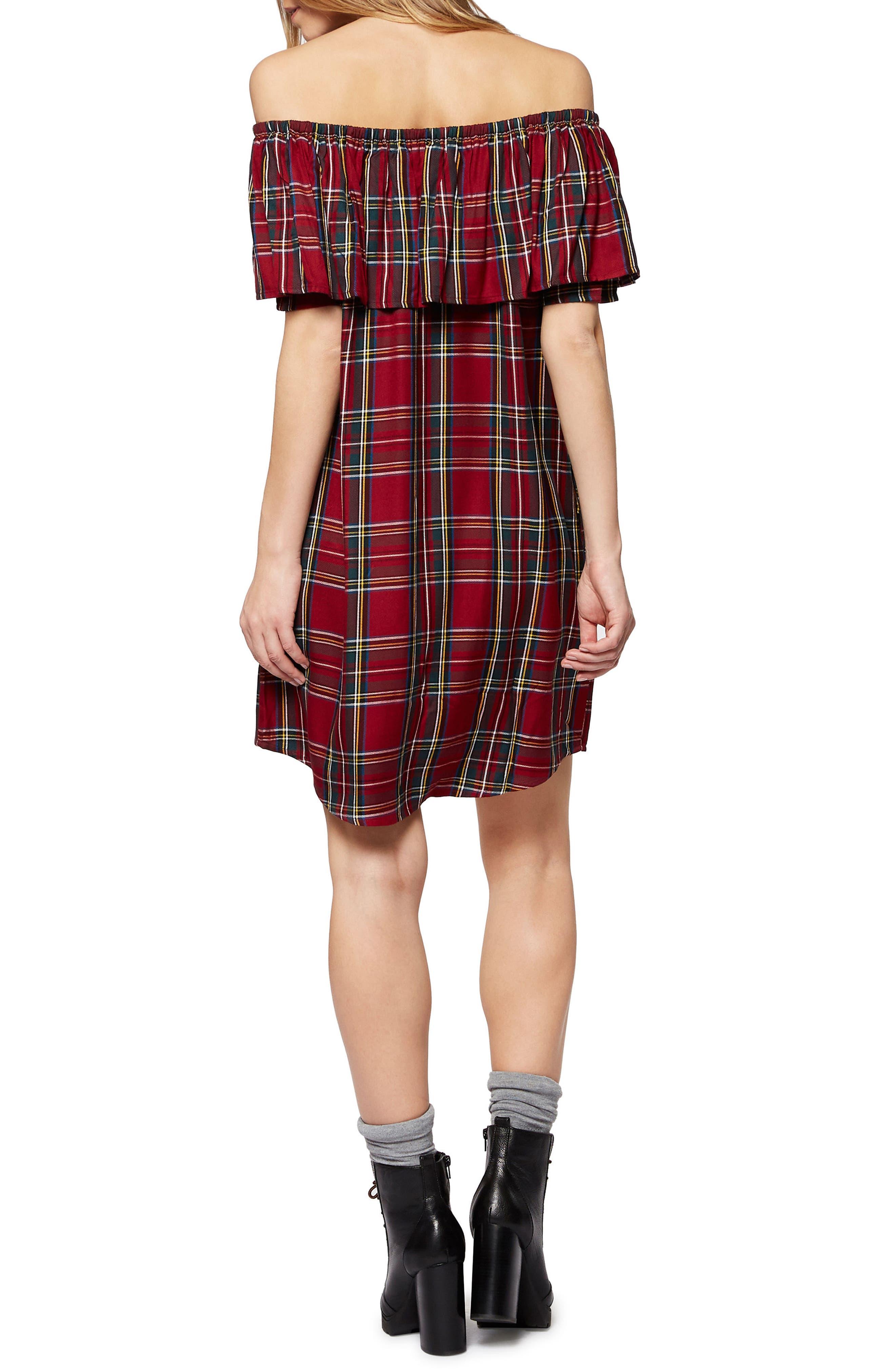 Alternate Image 2  - Sanctuary Stella Plaid Off the Shoulder Dress