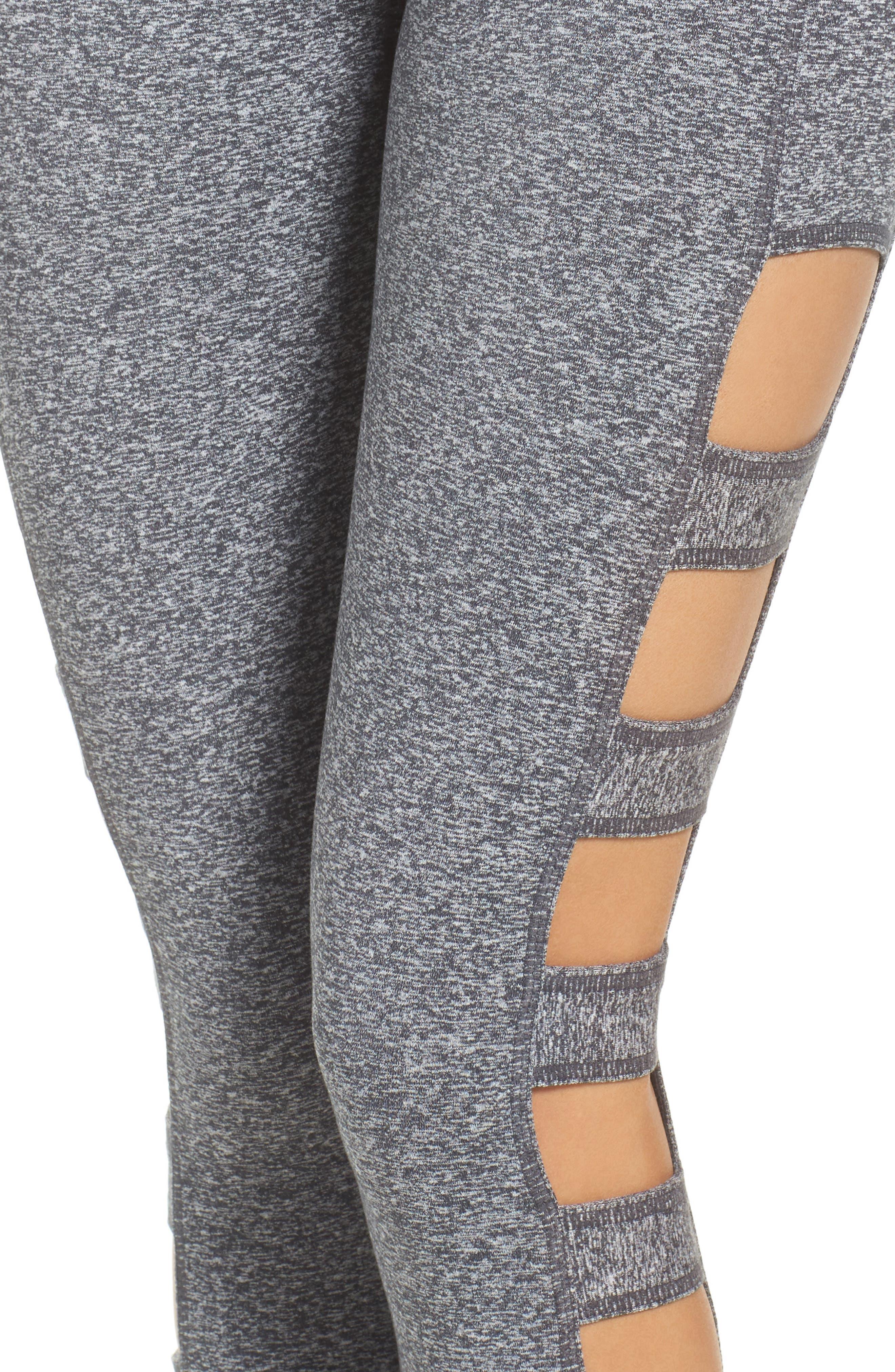 Alternate Image 6  - Zella Varsity High Waist Crop Leggings