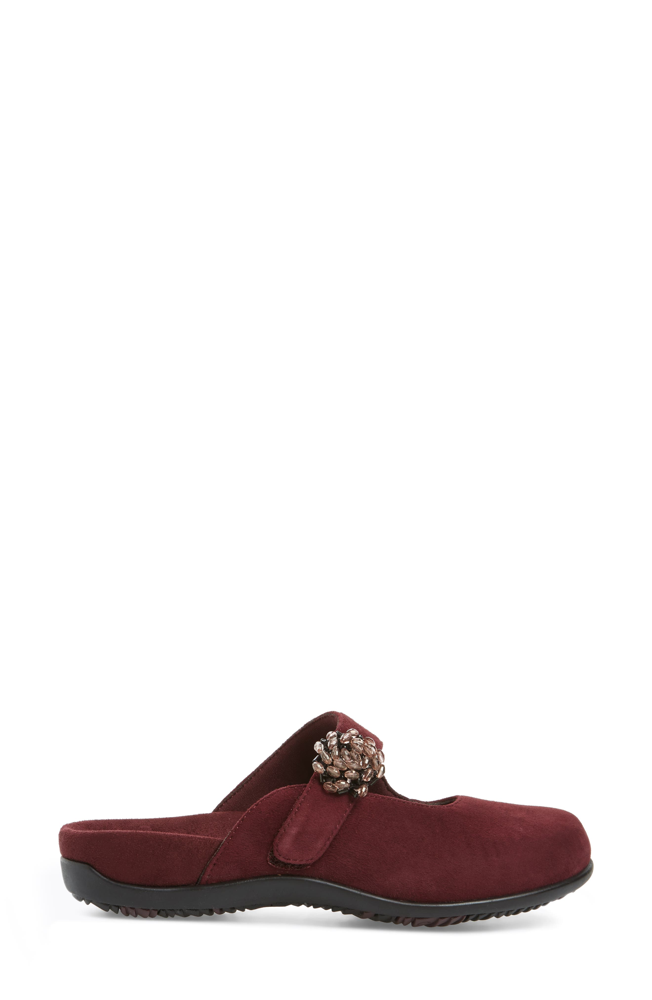 Rest Joan Mary Jane Mule,                             Alternate thumbnail 3, color,                             Merlot Suede