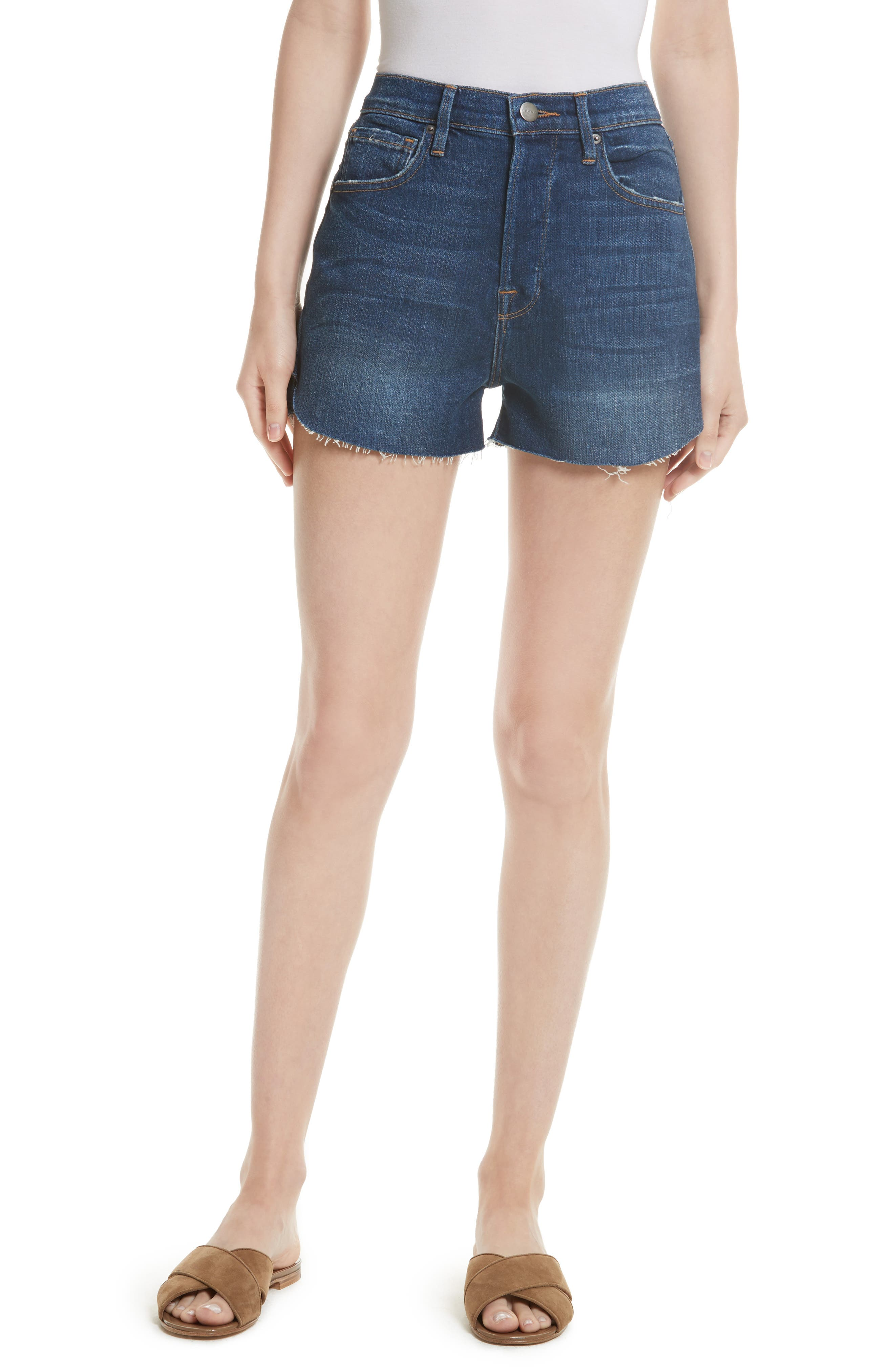 FRAME Le Original Tulip High Waist Shorts (Plummer) (Nordstrom Exclusive)