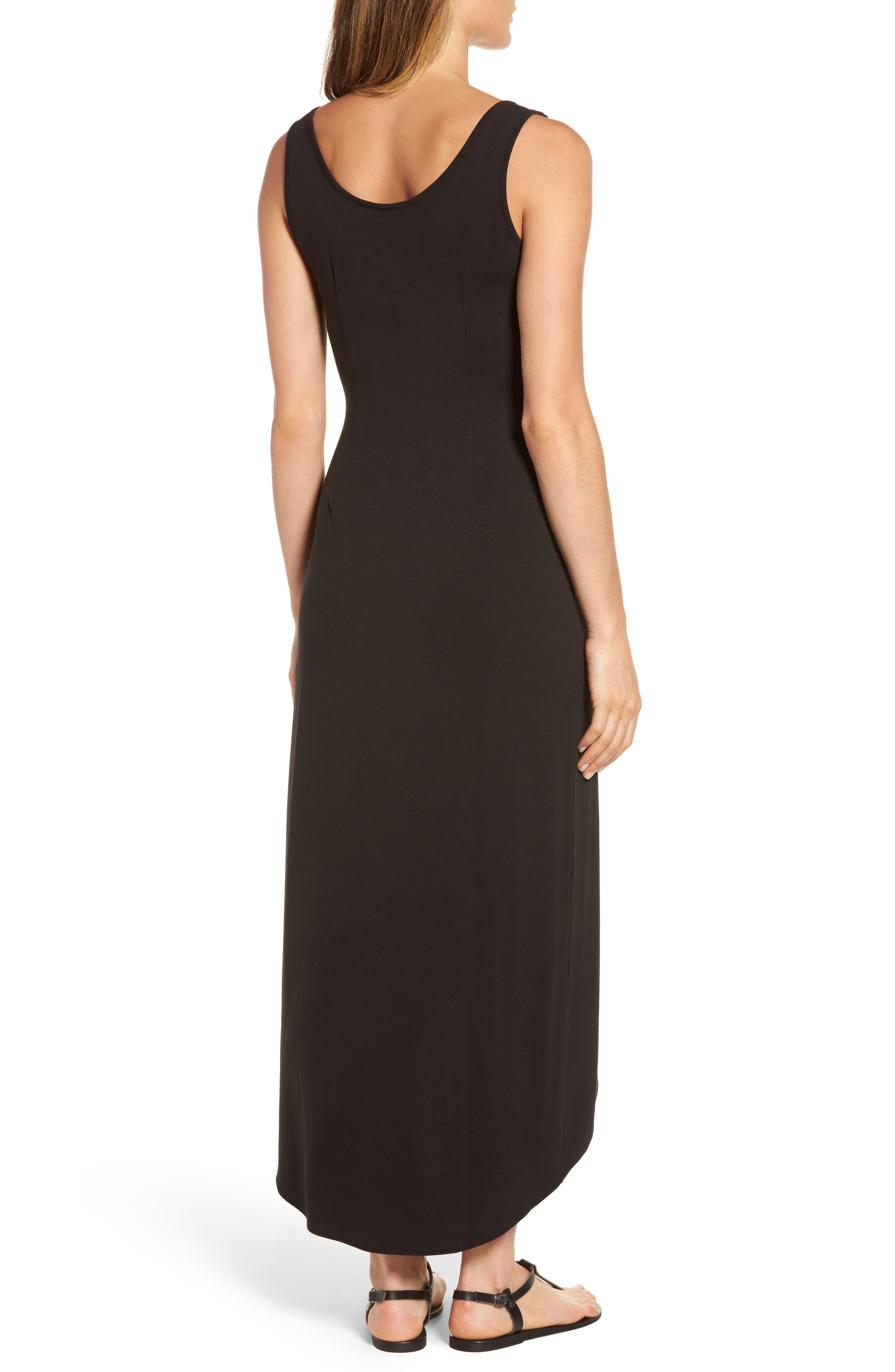 Tambour Maxi Dress,                             Alternate thumbnail 2, color,                             Black