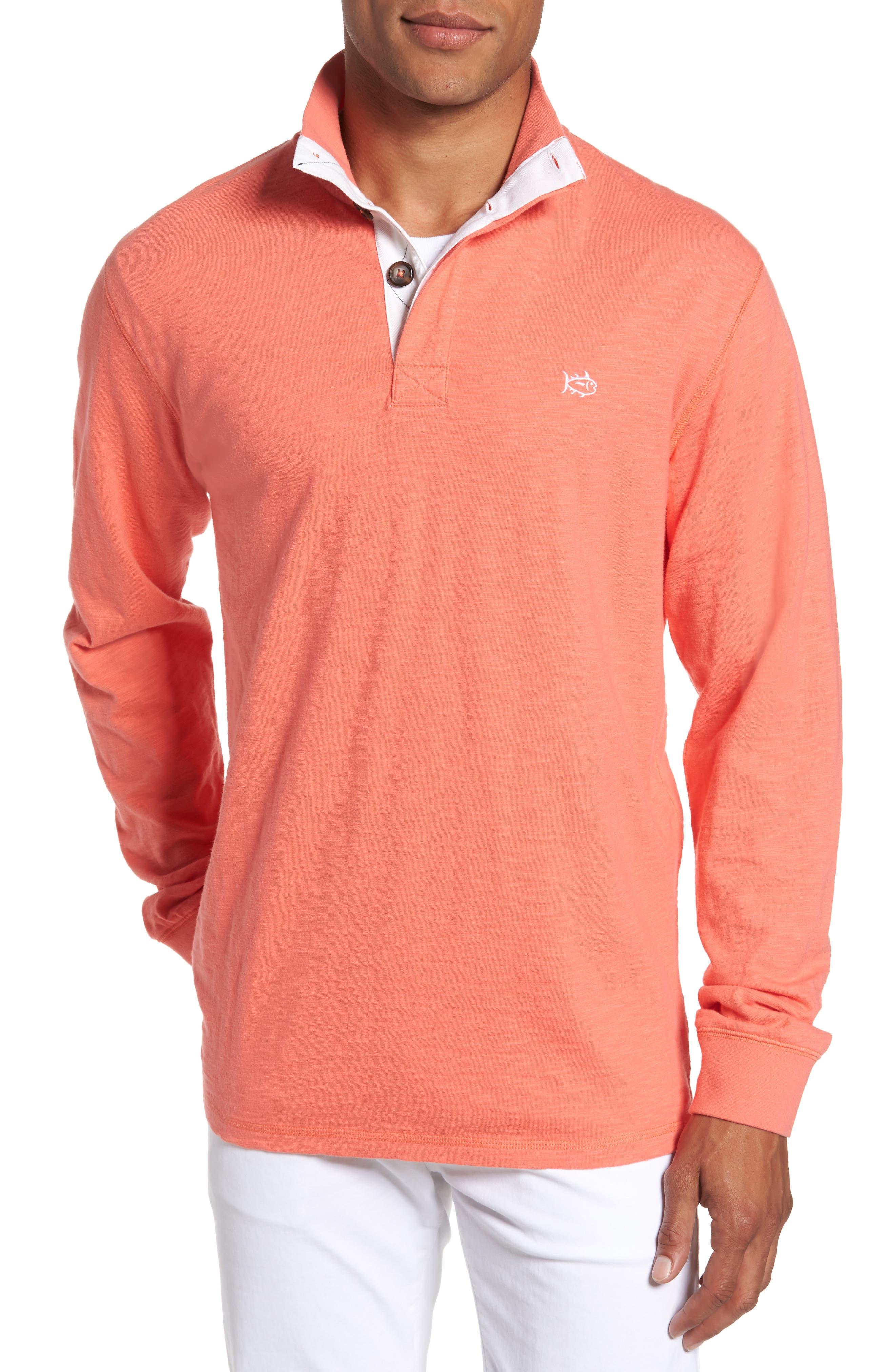 Gulf Stream Sweatshirt,                             Main thumbnail 1, color,                             Melon