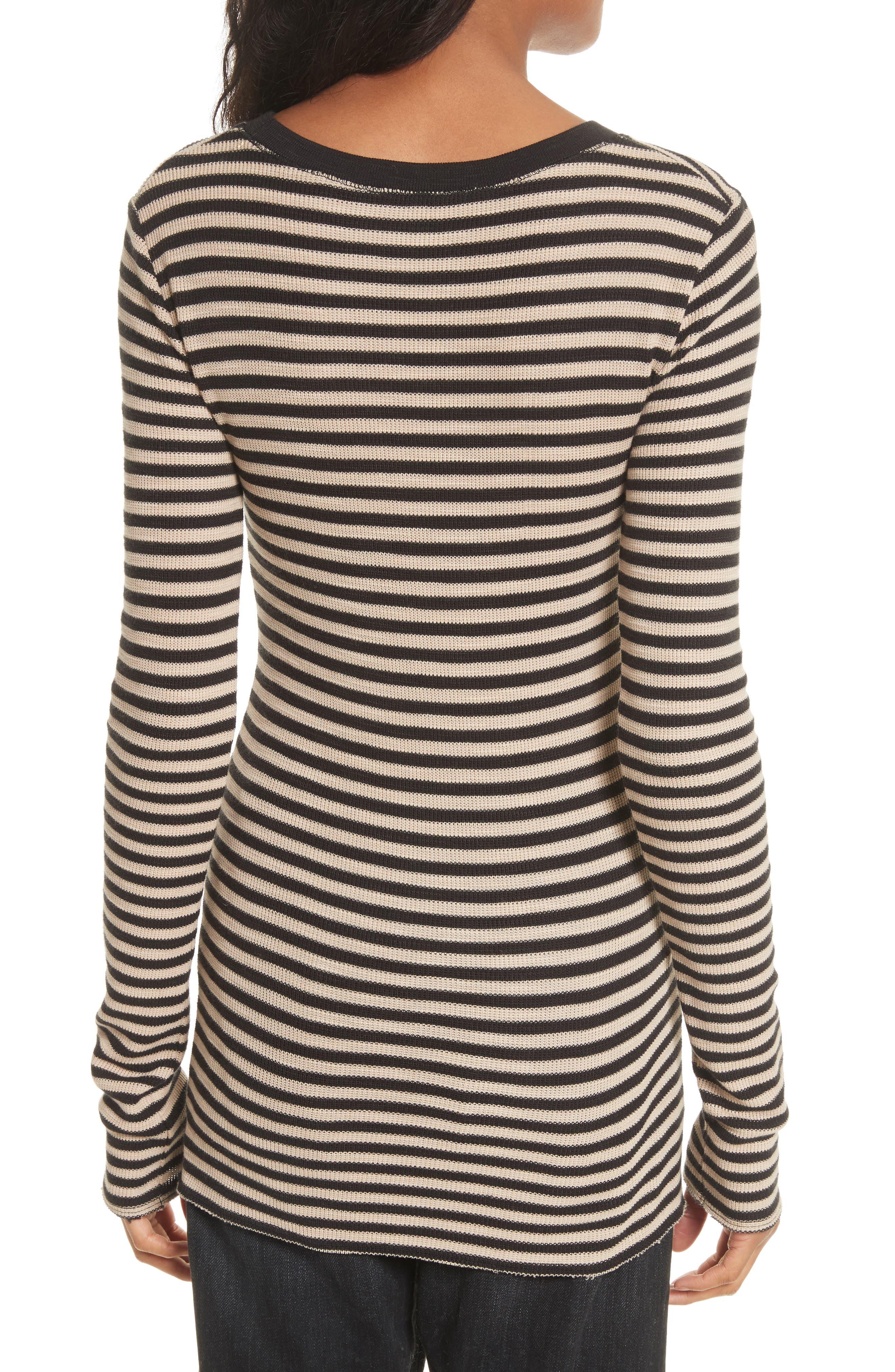Alternate Image 4  - Vince Railroad Stripe Crewneck Sweater