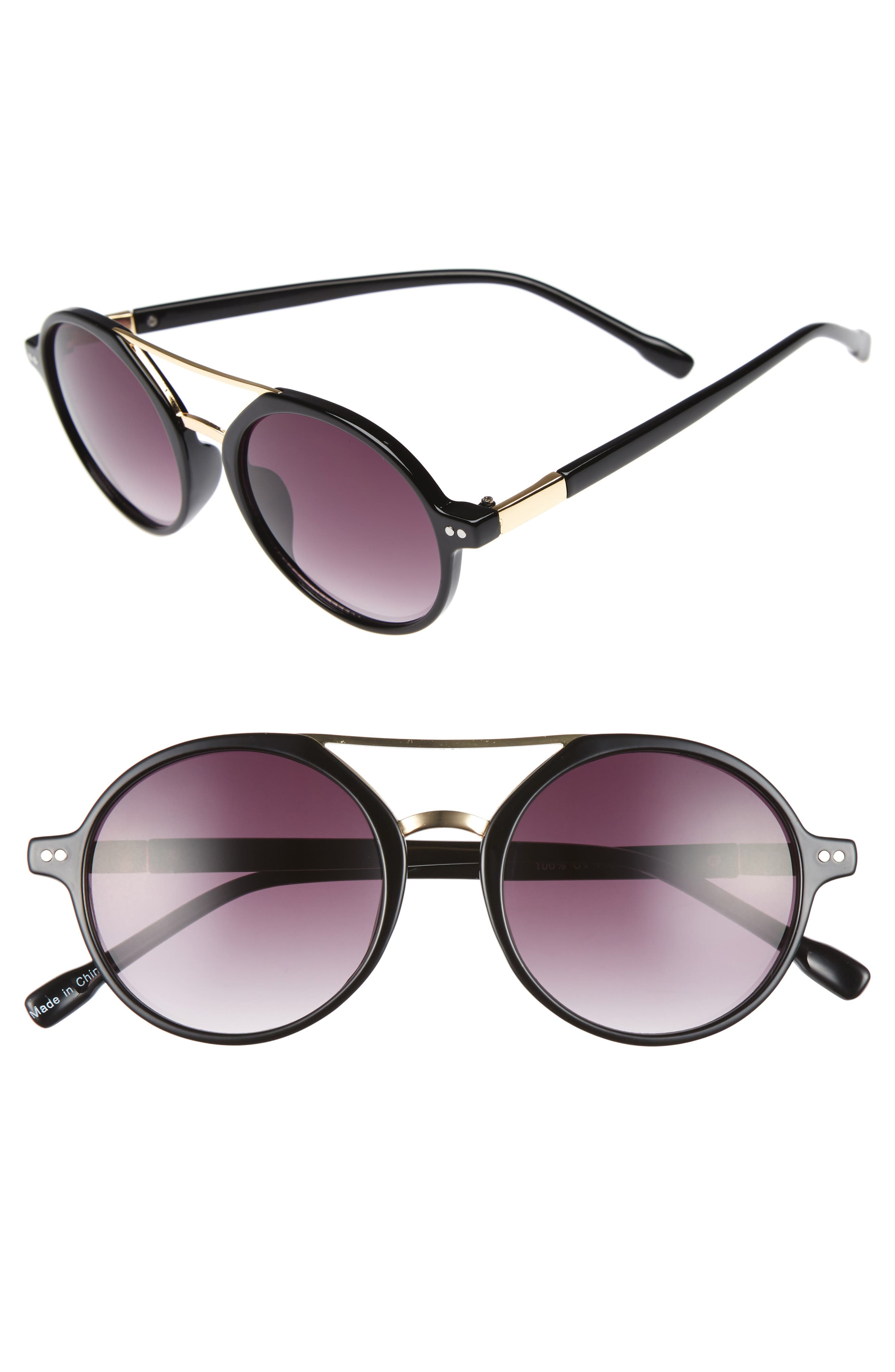 BP. 53mm Round Sunglasses