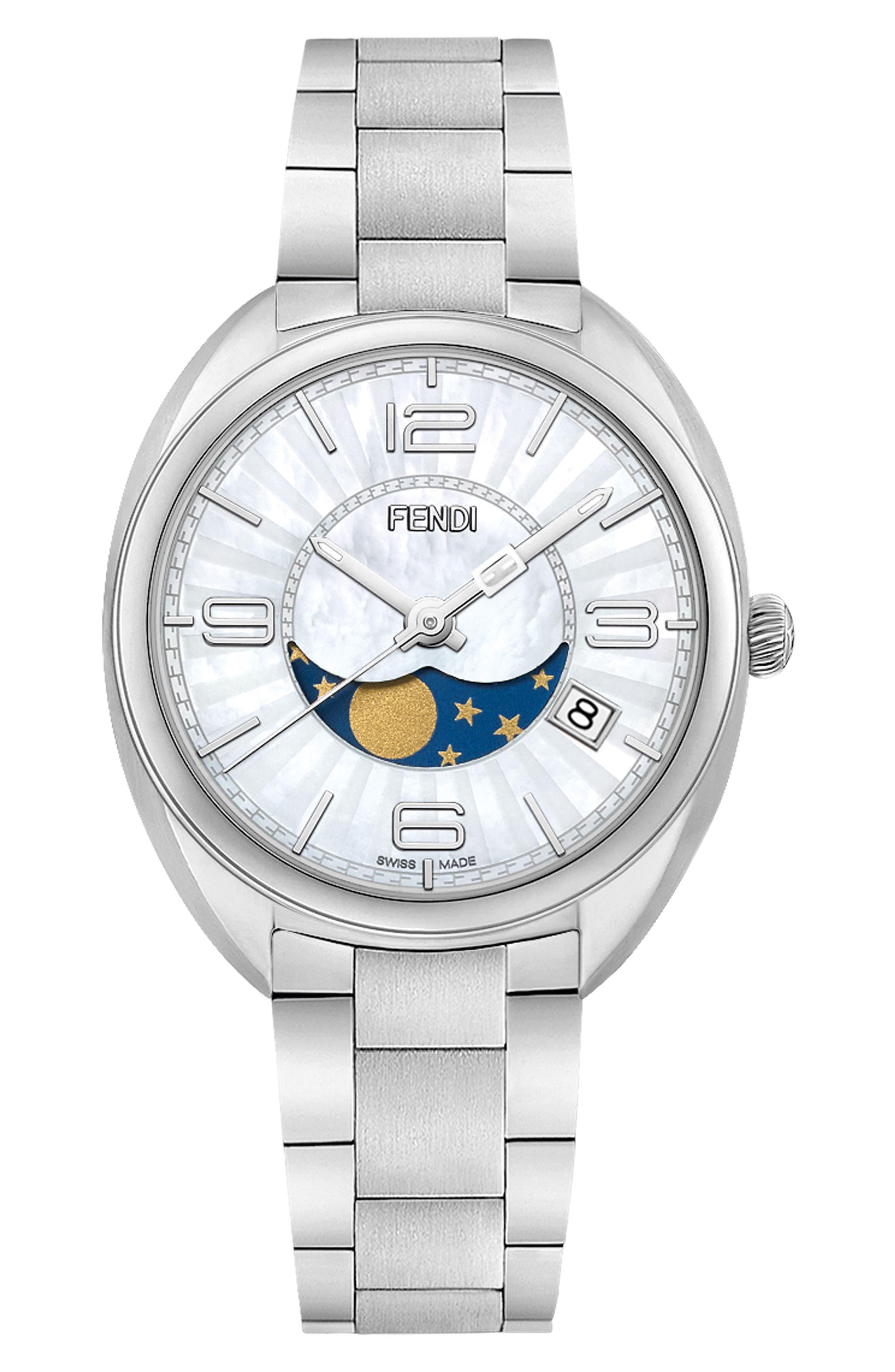 Momento Bracelet Watch, 34mm,                         Main,                         color, Silver/ Mop/ Silver