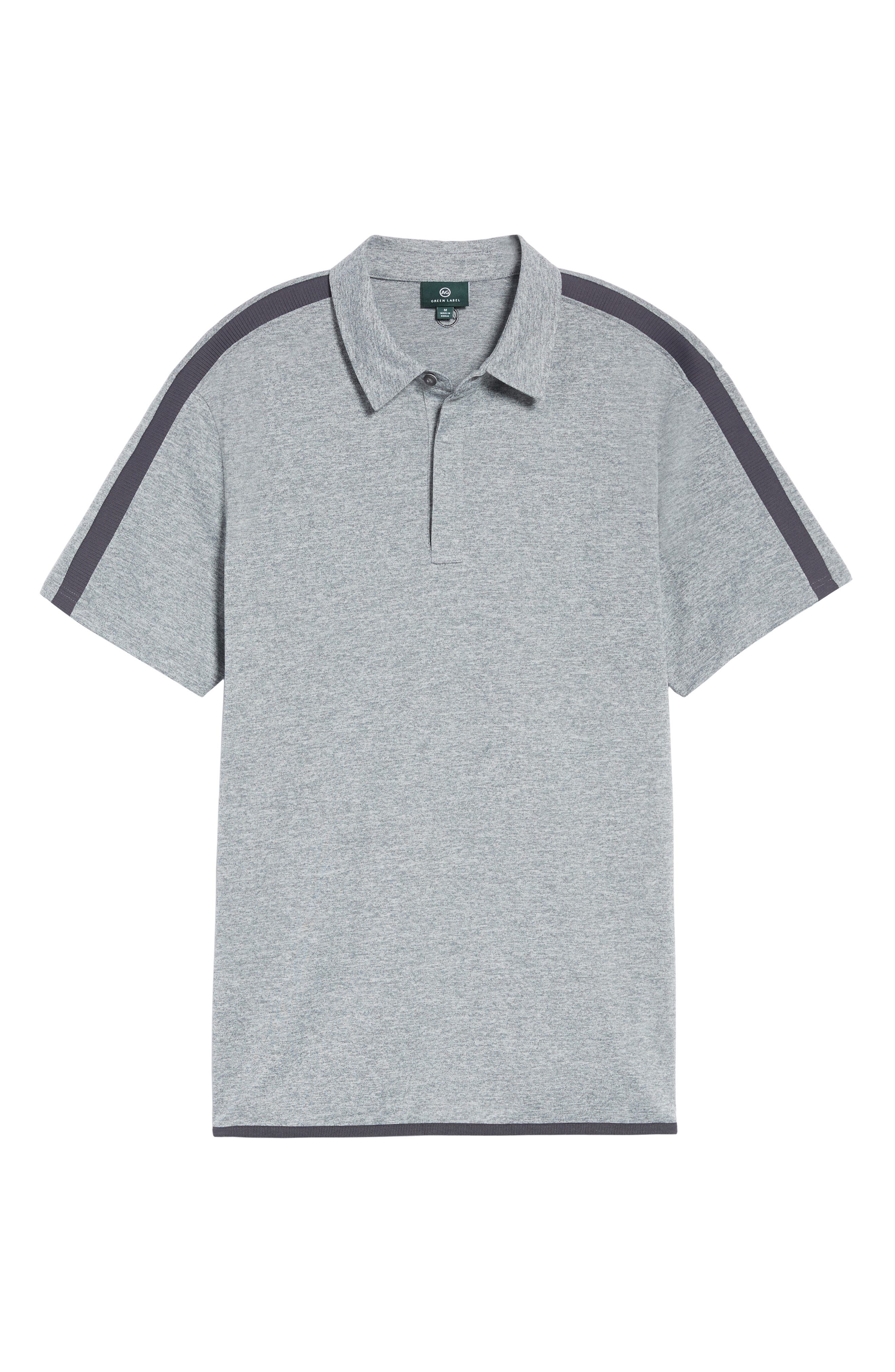Felton Shoulder Stripe Polo,                             Alternate thumbnail 6, color,                             9-Iron Grey Melange