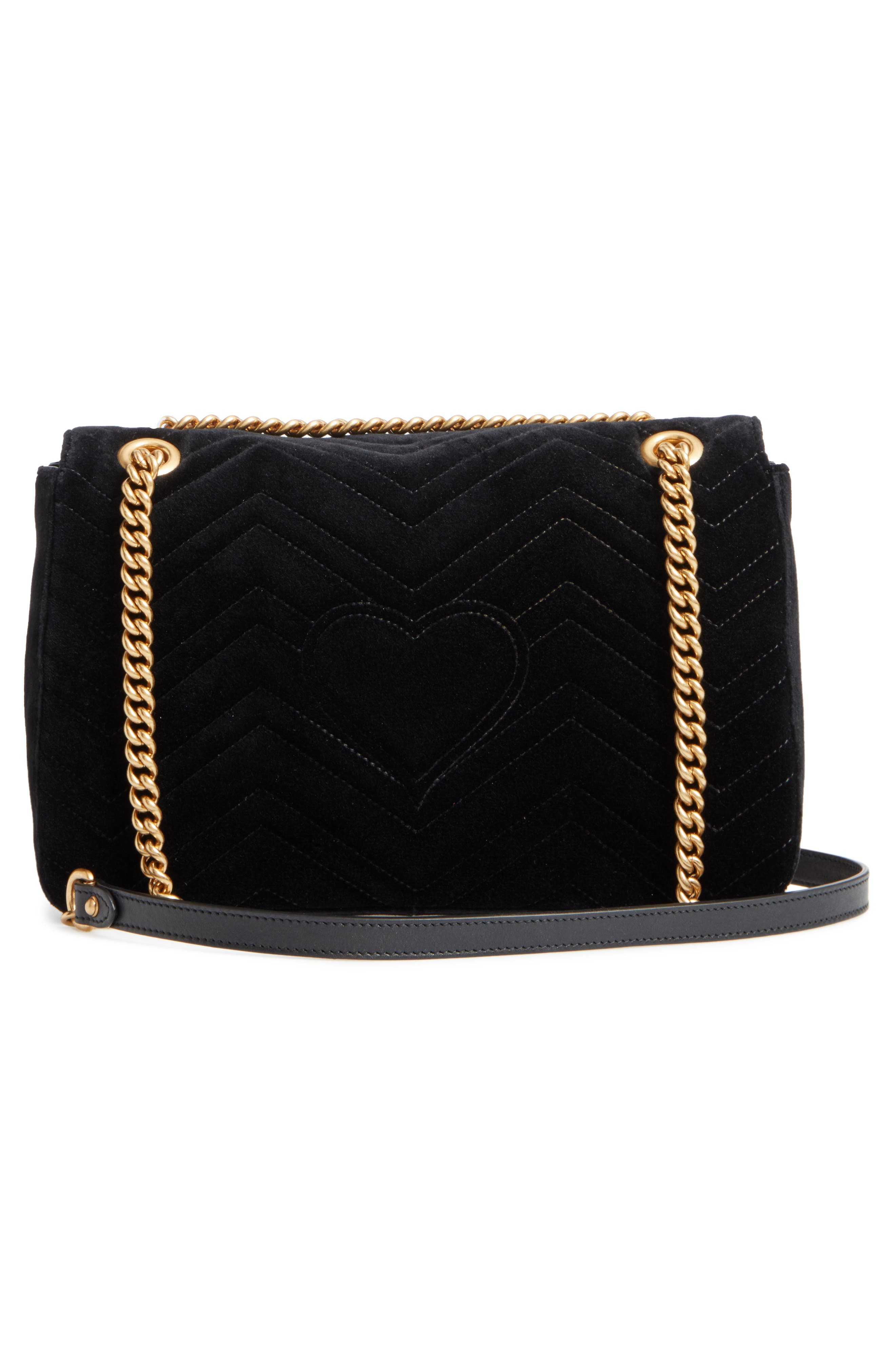 Alternate Image 3  - Gucci Medium GG Marmont 2.0 Matelassé Velvet Shoulder Bag