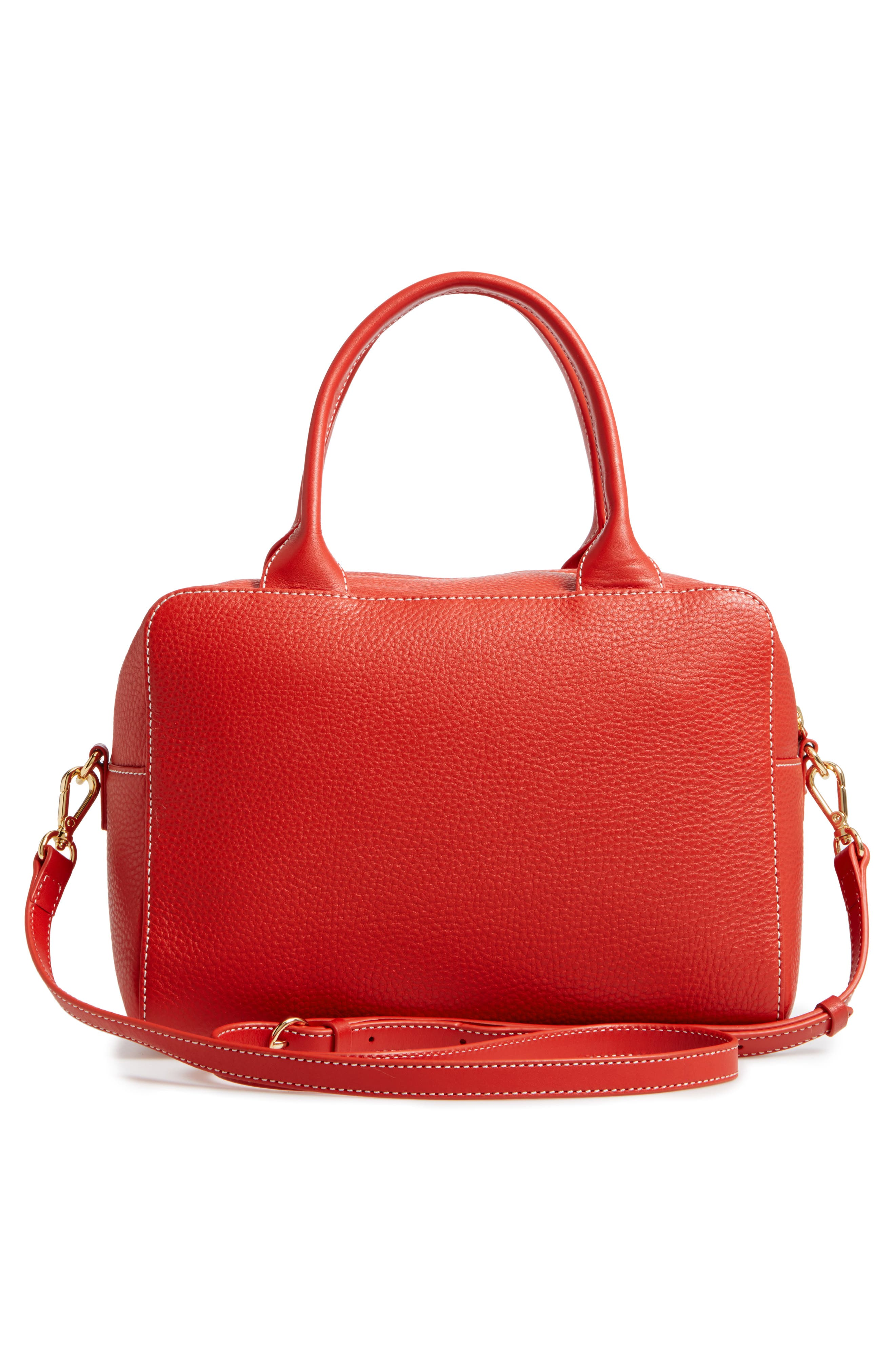 Medium Maddy Satchel,                             Alternate thumbnail 3, color,                             Coral