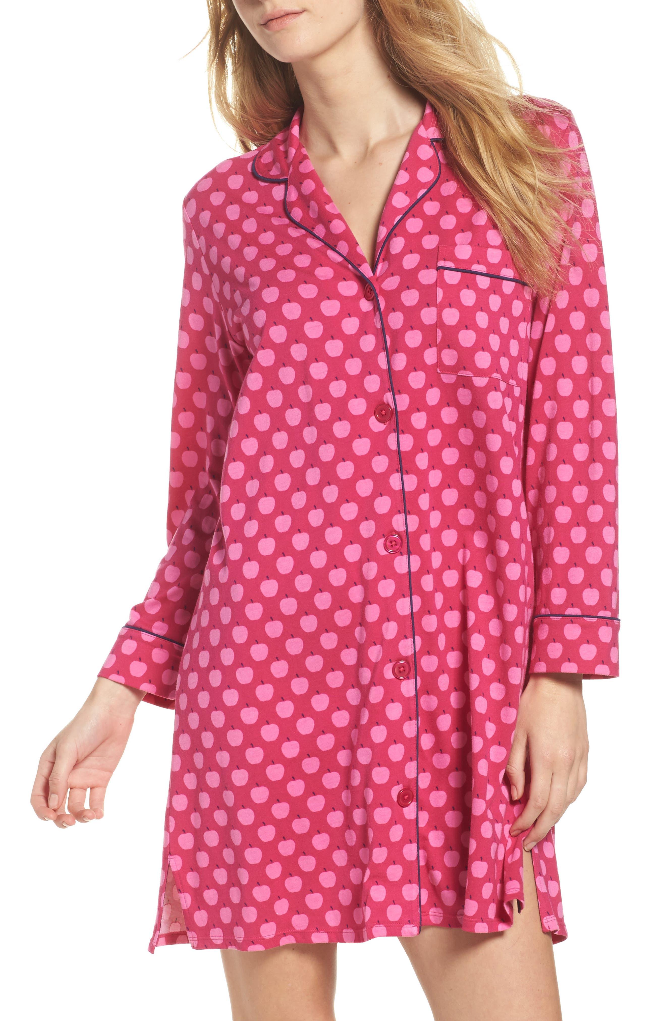 print sleep shirt,                         Main,                         color, Pink