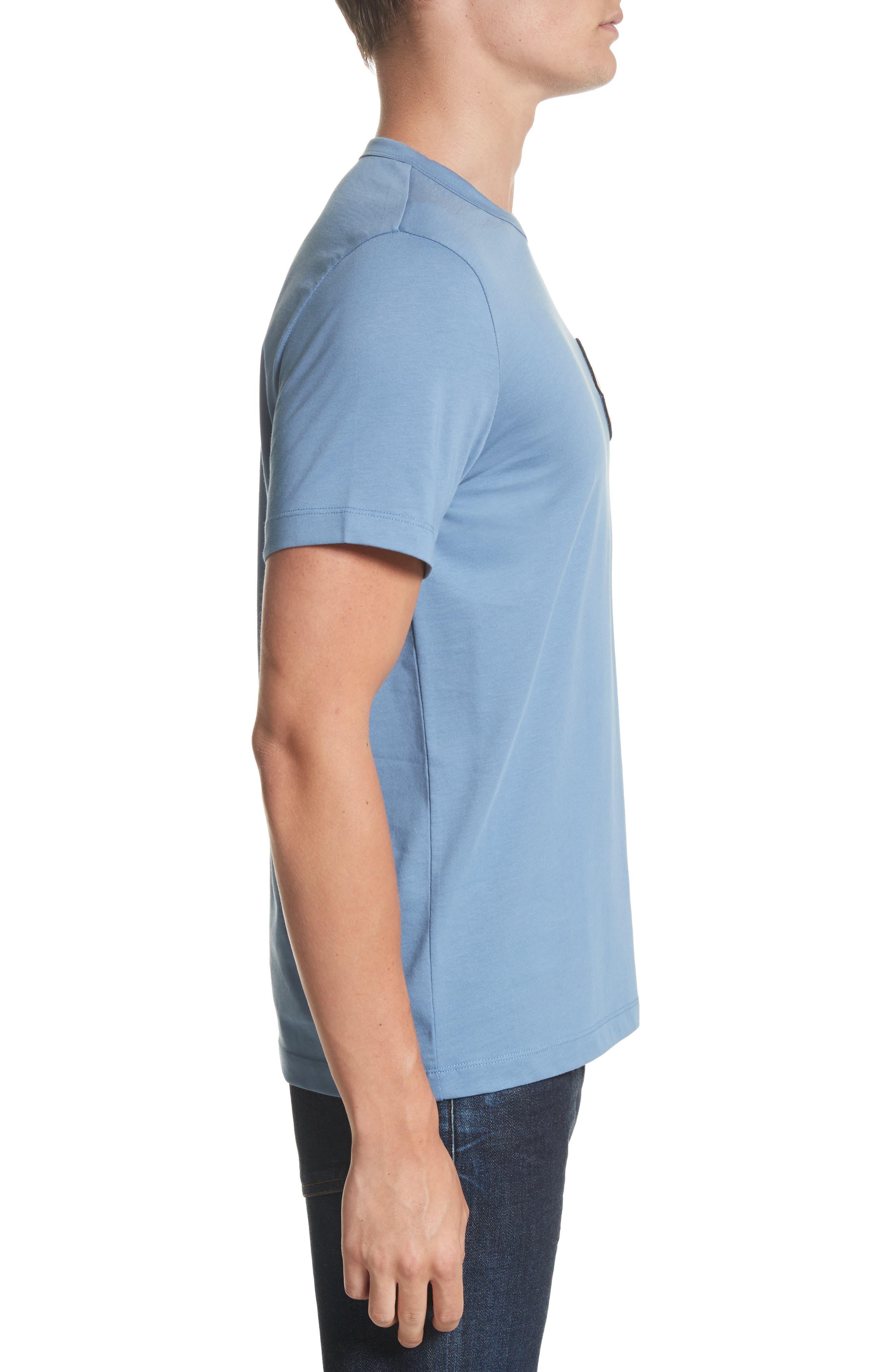 Maglia T-Shirt,                             Alternate thumbnail 3, color,                             Medium Blue