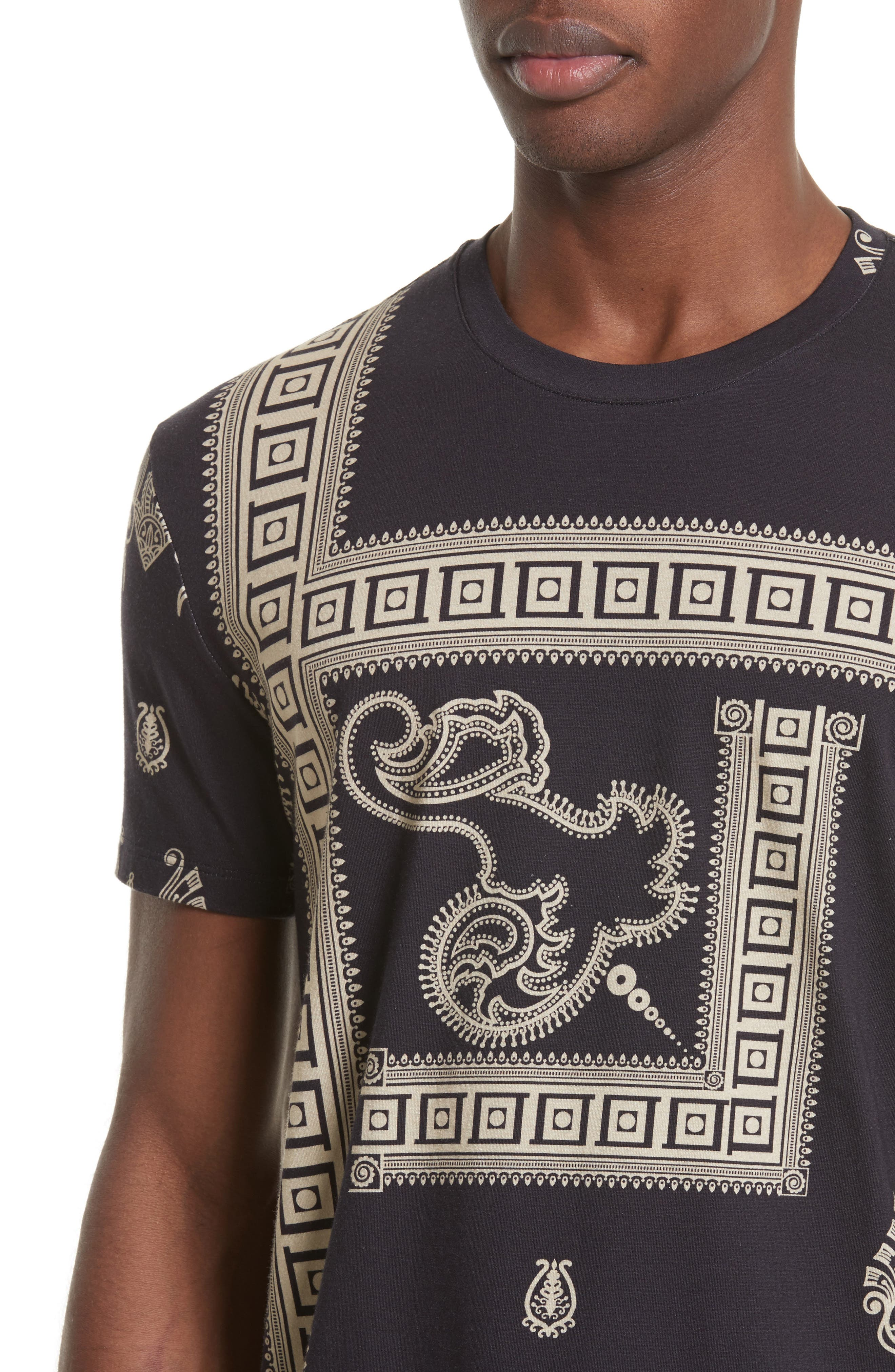 Alternate Image 4  - Versace Collection Paisley Frame Print T-Shirt