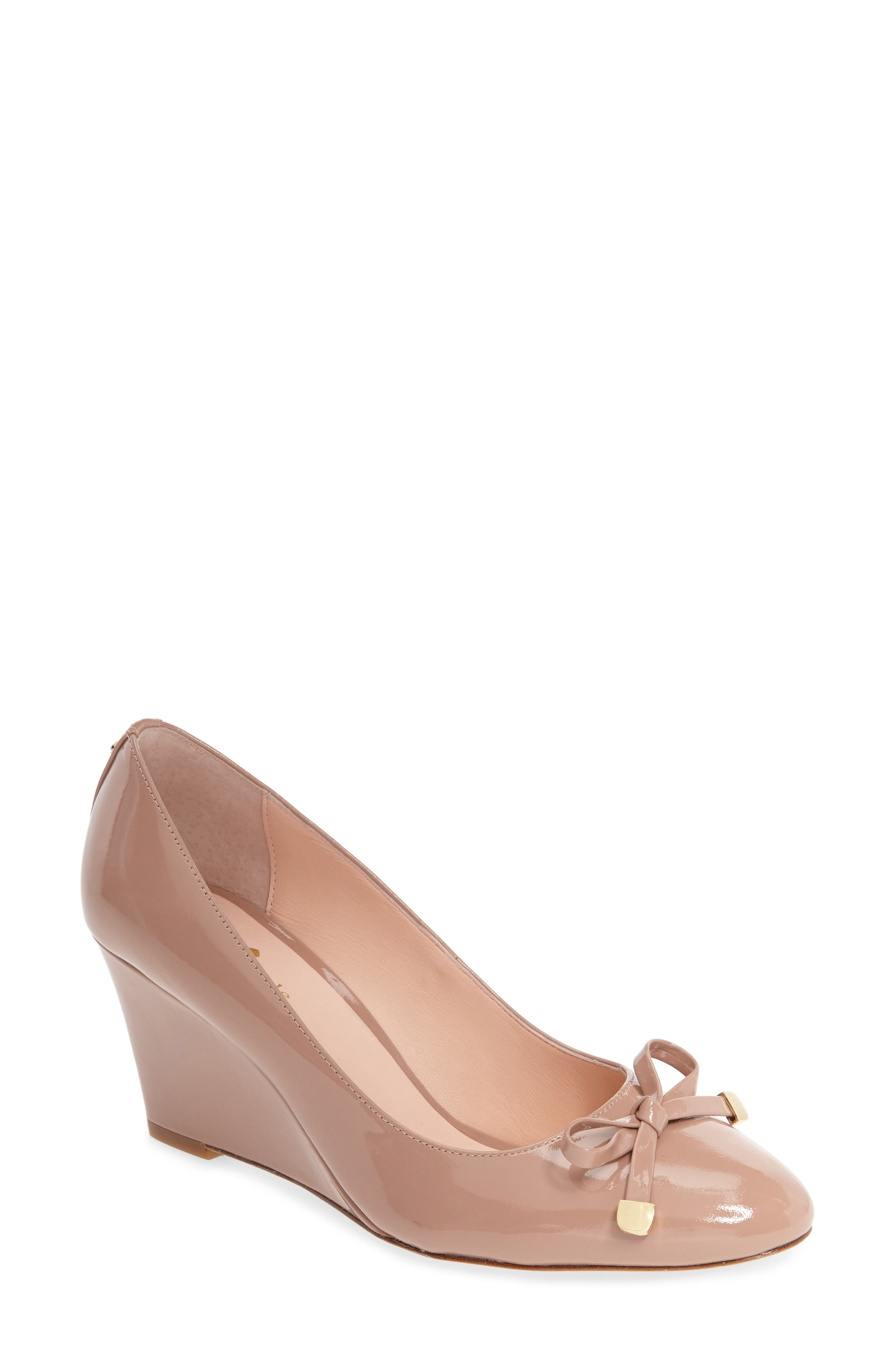 kate spade new york wrenn bow wedge (Women)