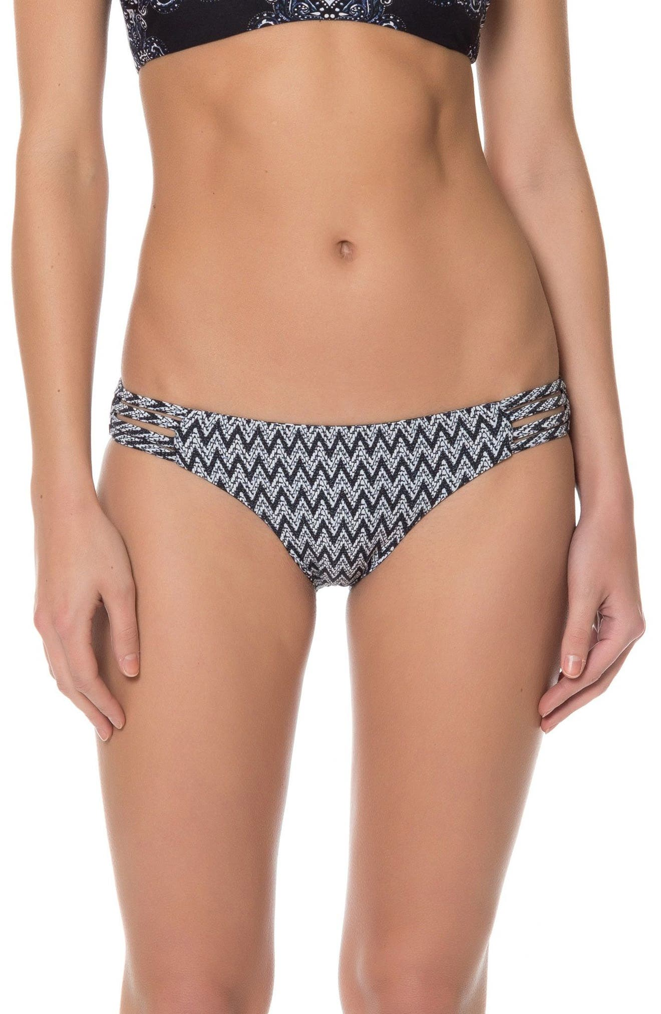 Alternate Image 2  - Red Carter Reversible Print Bikini Bottoms