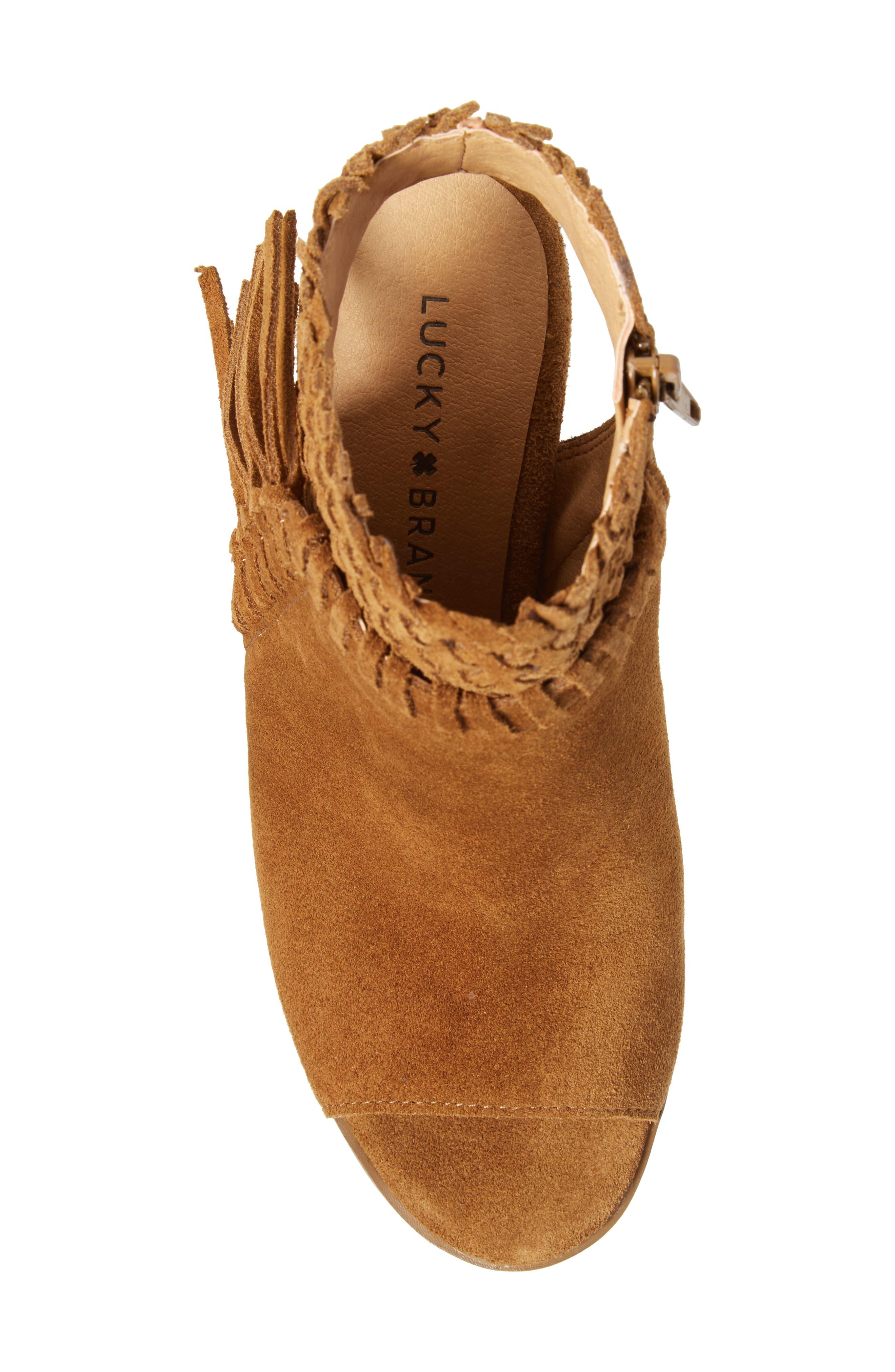Alternate Image 5  - Lucky Brand Ointlee Fringe Bootie Sandal (Women)