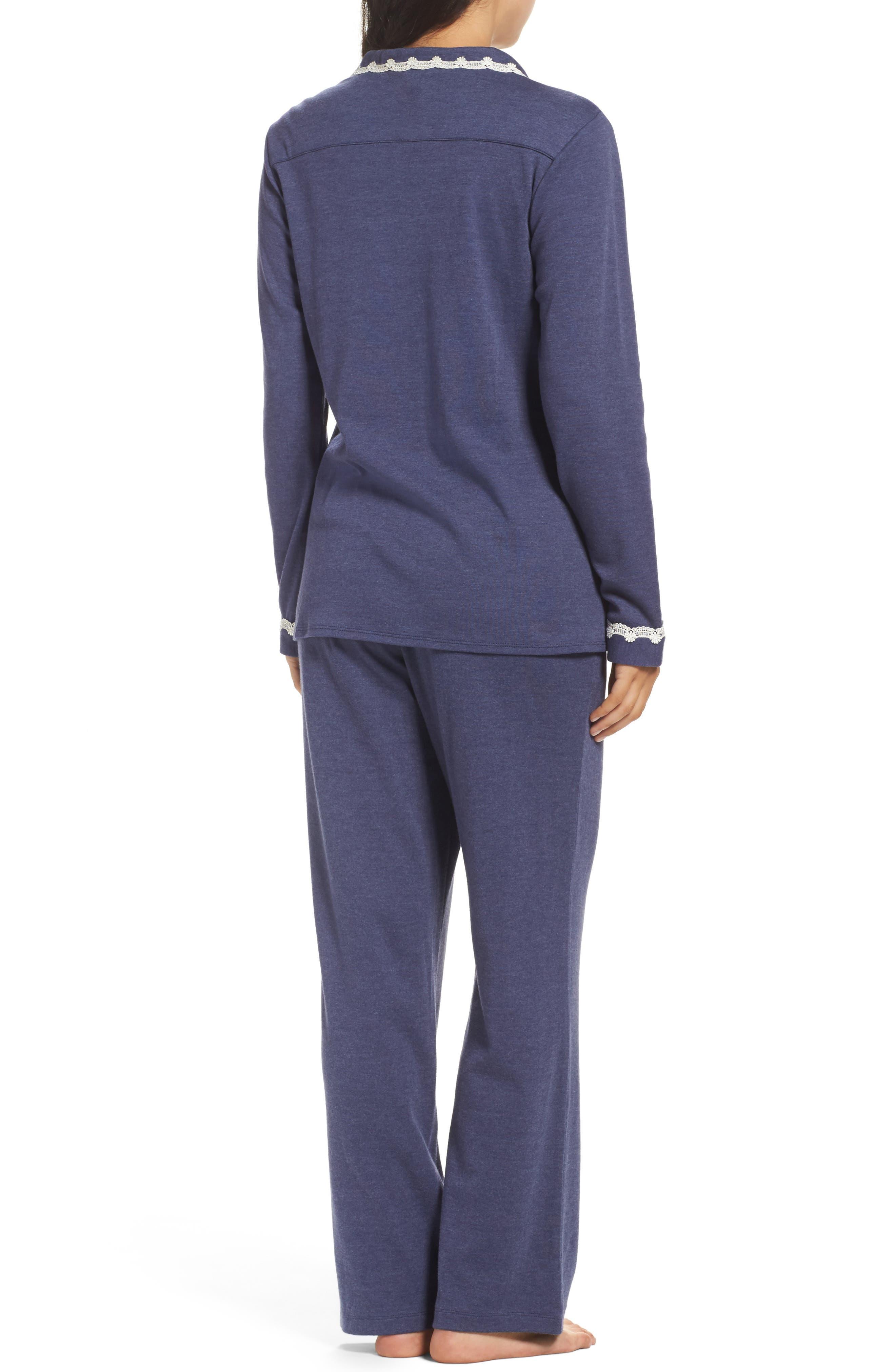 Jersey Pajamas,                             Alternate thumbnail 2, color,                             Blue